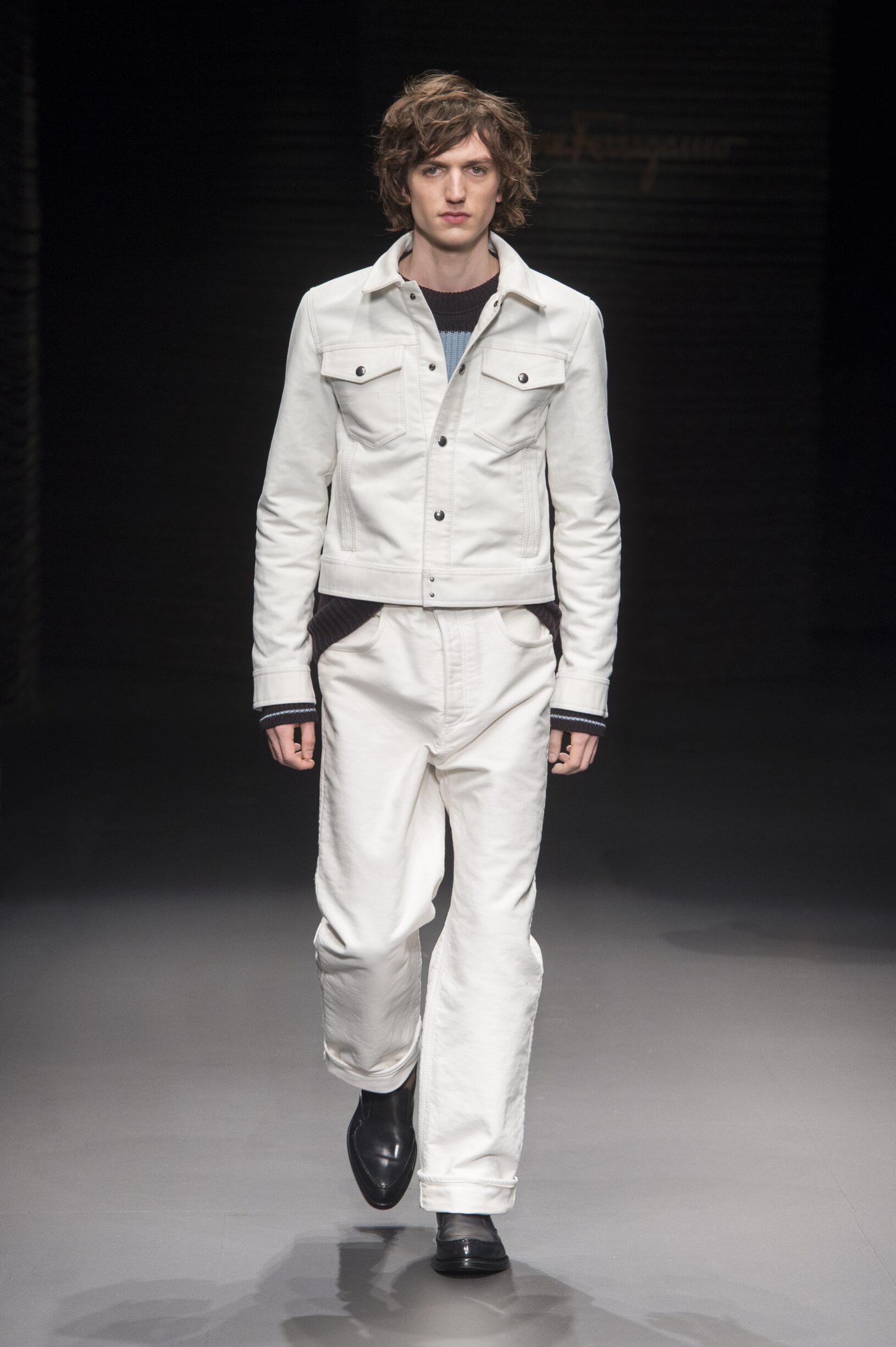 Catwalk Salvatore Ferragamo Man Fashion Show Winter 2017