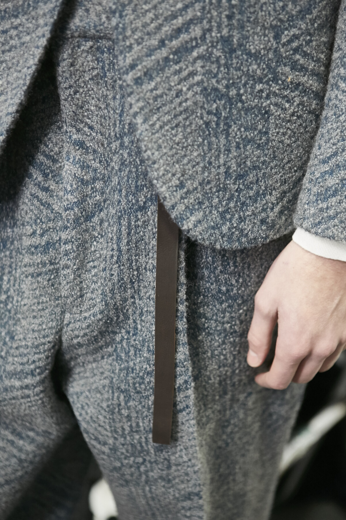 Ermenegildo Zegna Backstage Fashion Model Detail