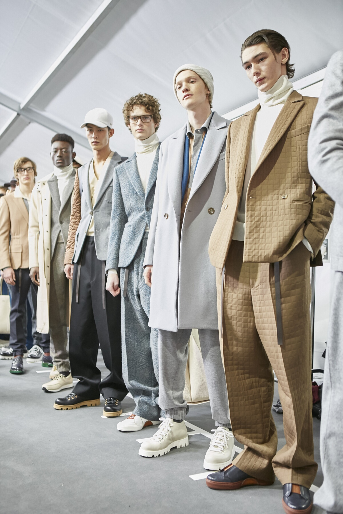 Ermenegildo Zegna Backstage Fashion Models Milan