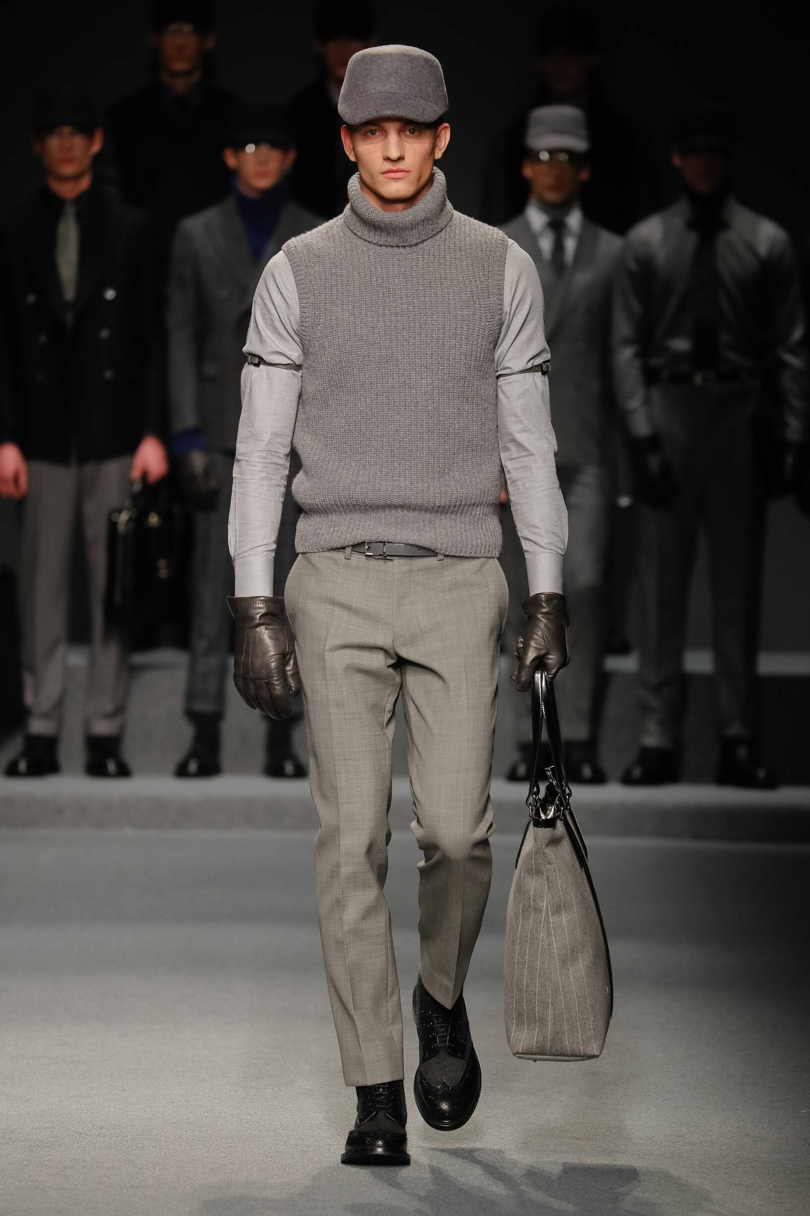 Fashion Man Model Daks Catwalk