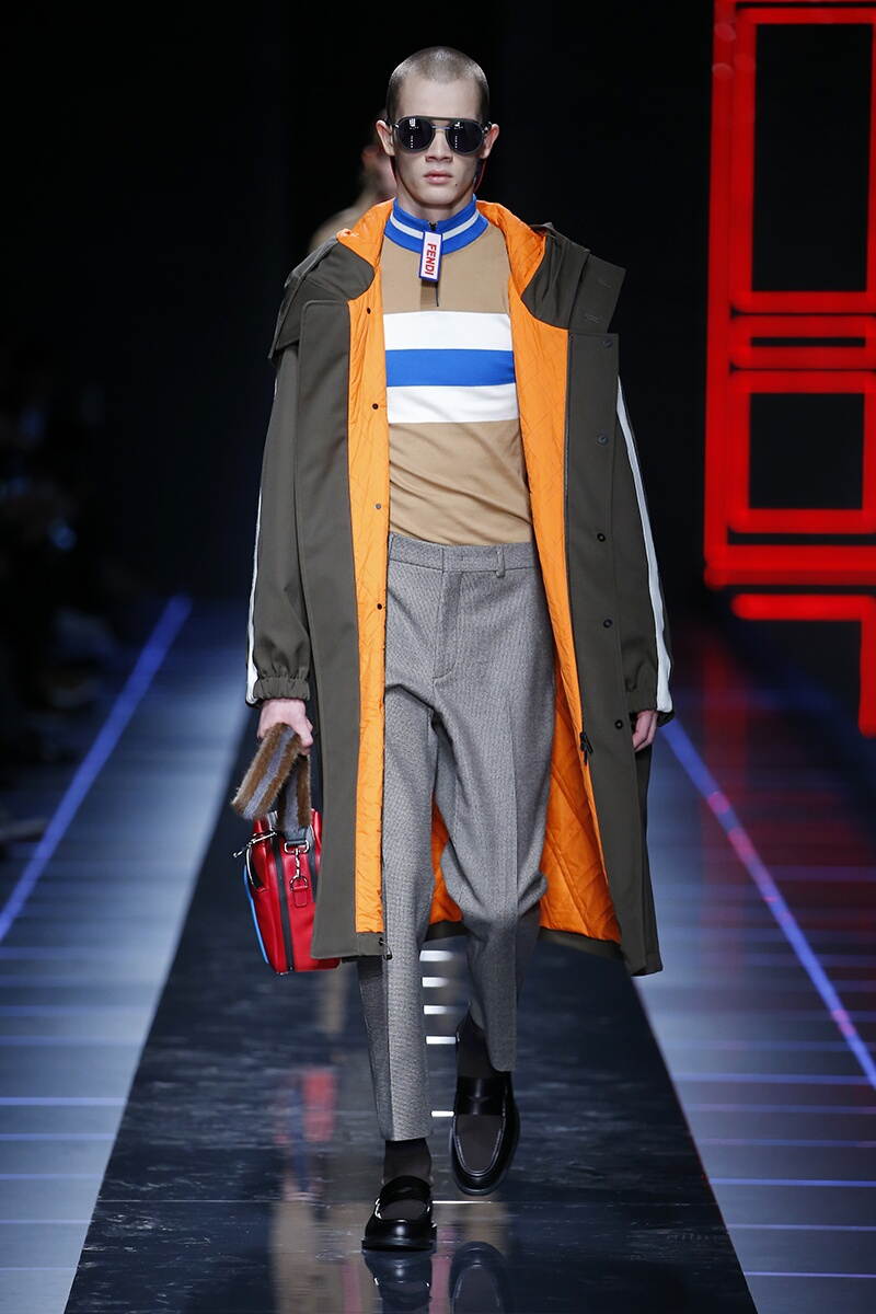 Fashion Man Model Fendi Catwalk