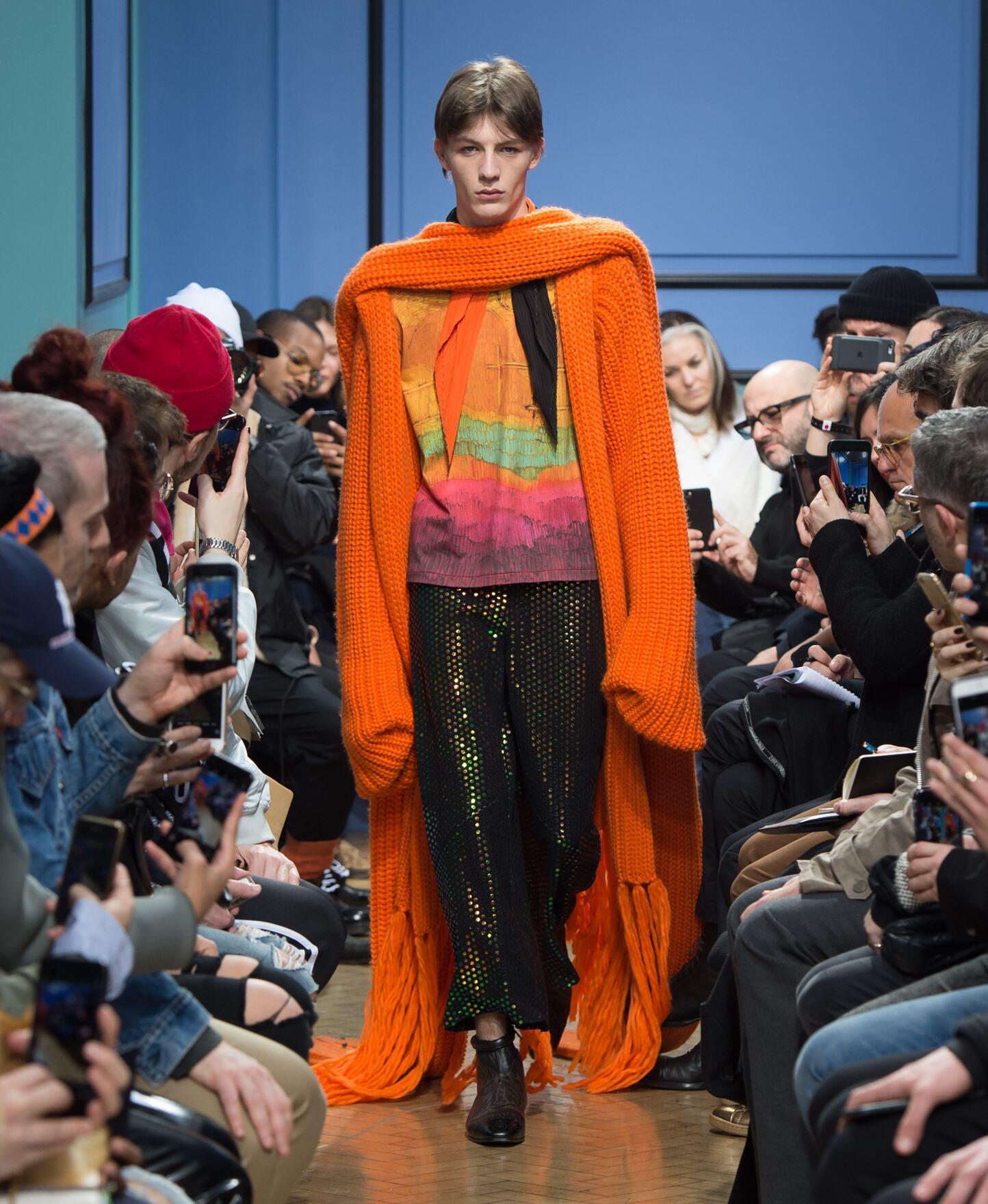 Fashion Man Model J.W Anderson Catwalk