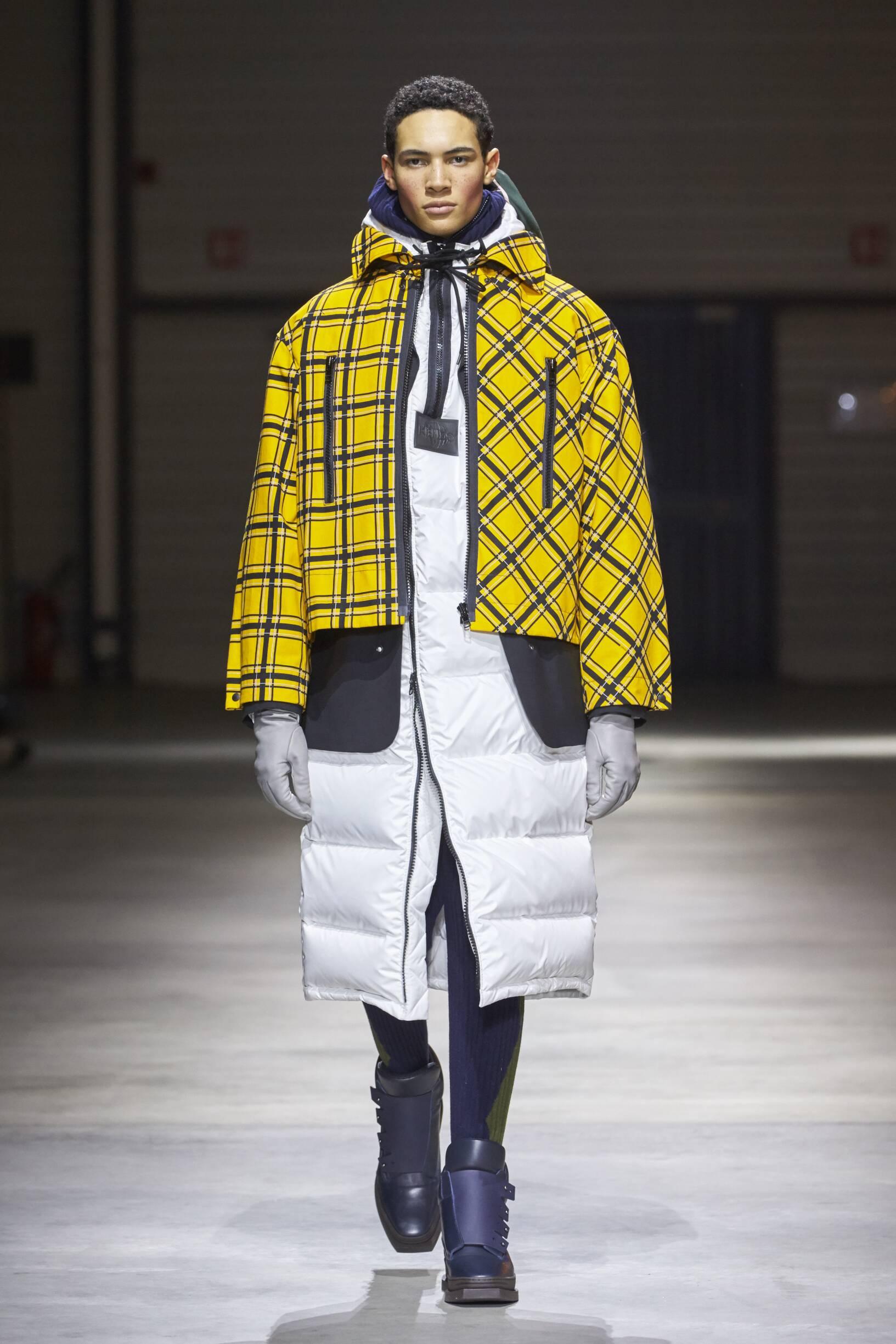 Fashion Man Model Kenzo Catwalk 17-18