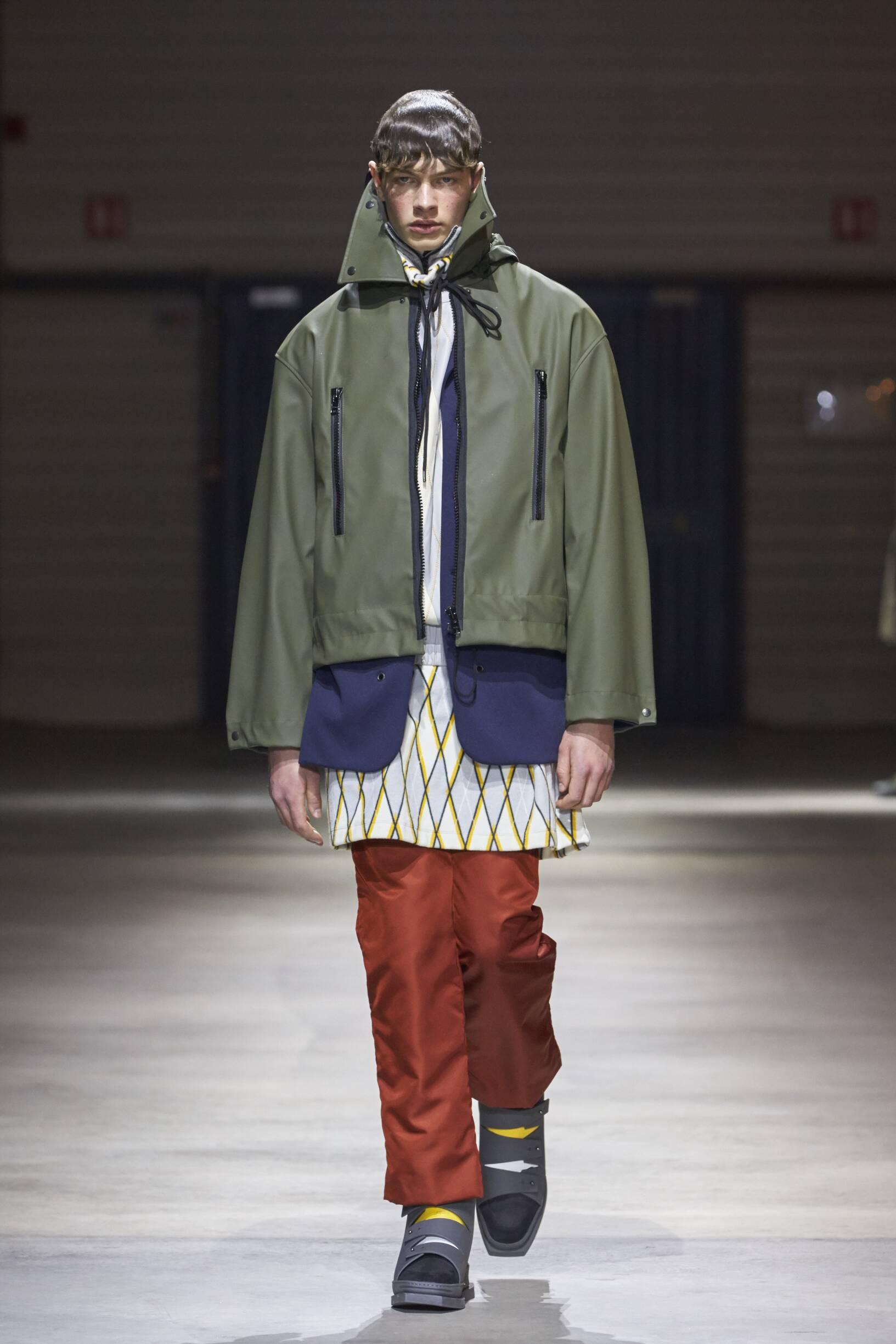 Fashion Man Model Kenzo Catwalk