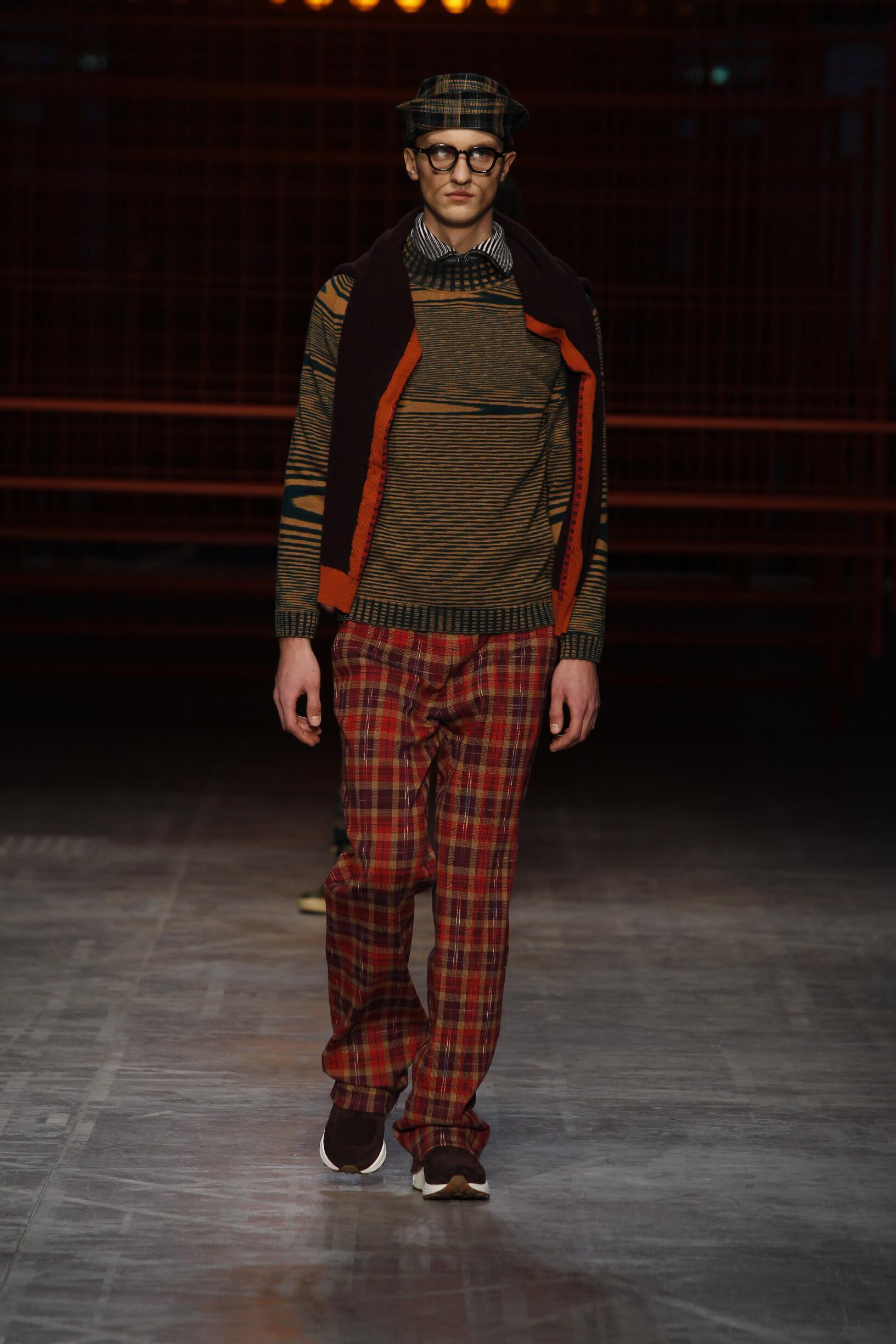 Fashion Man Model Missoni Catwalk