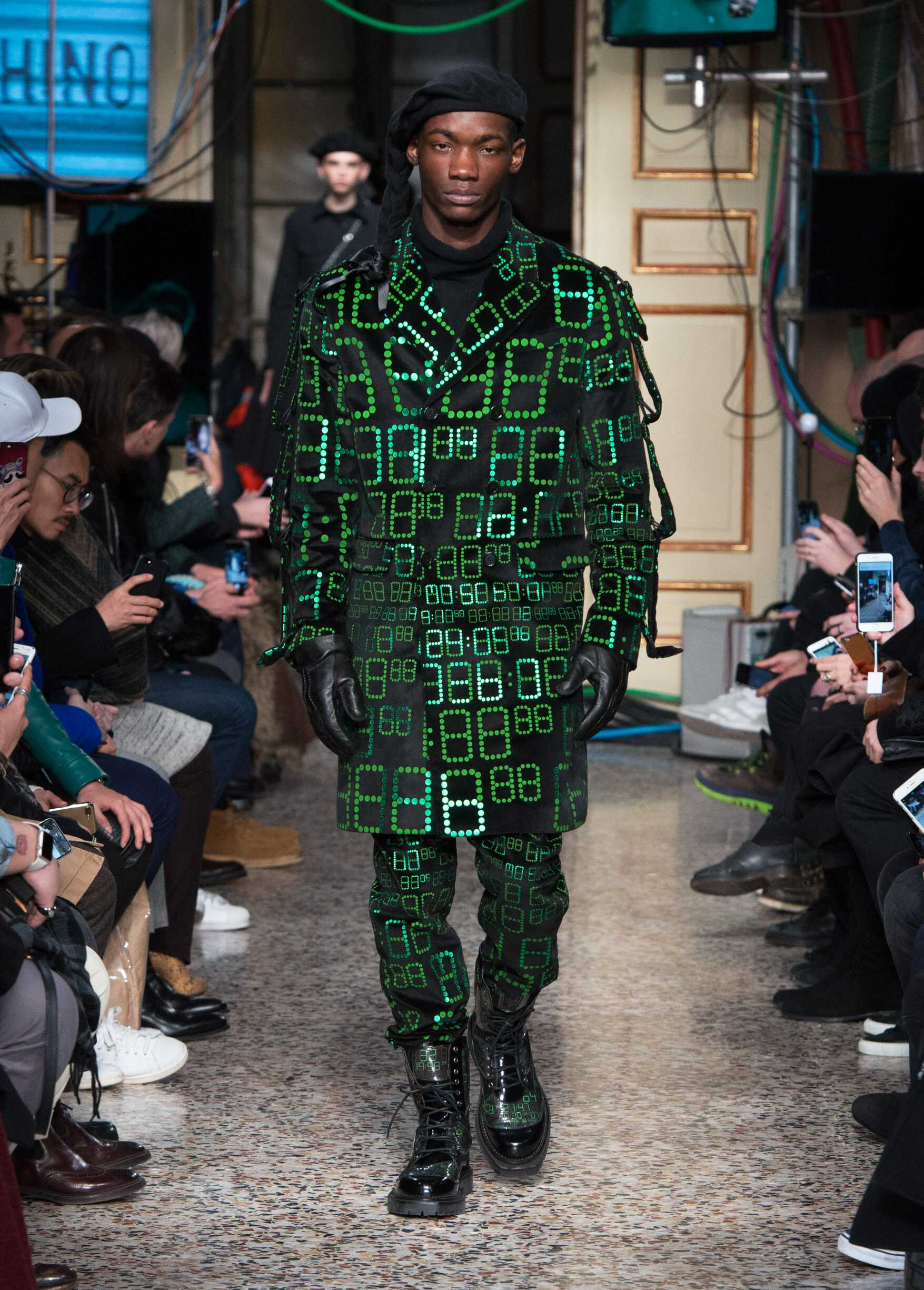 Fashion Man Model Moschino Catwalk 2017