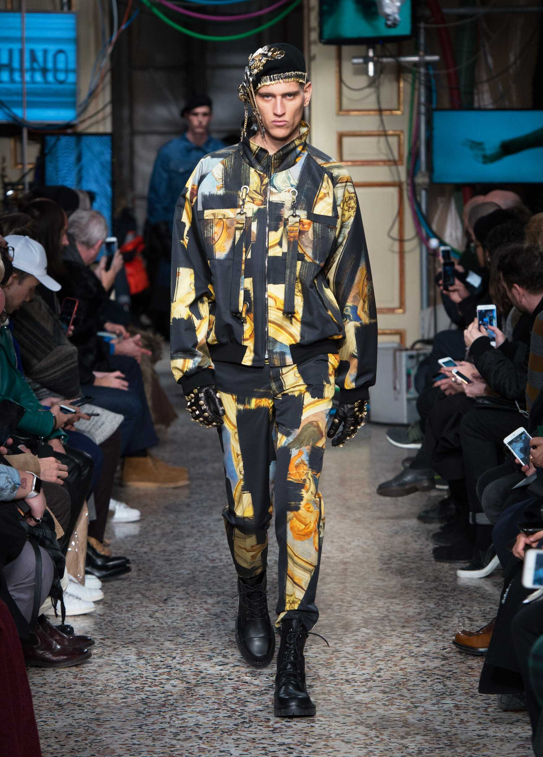 Fashion Man Model Moschino Catwalk