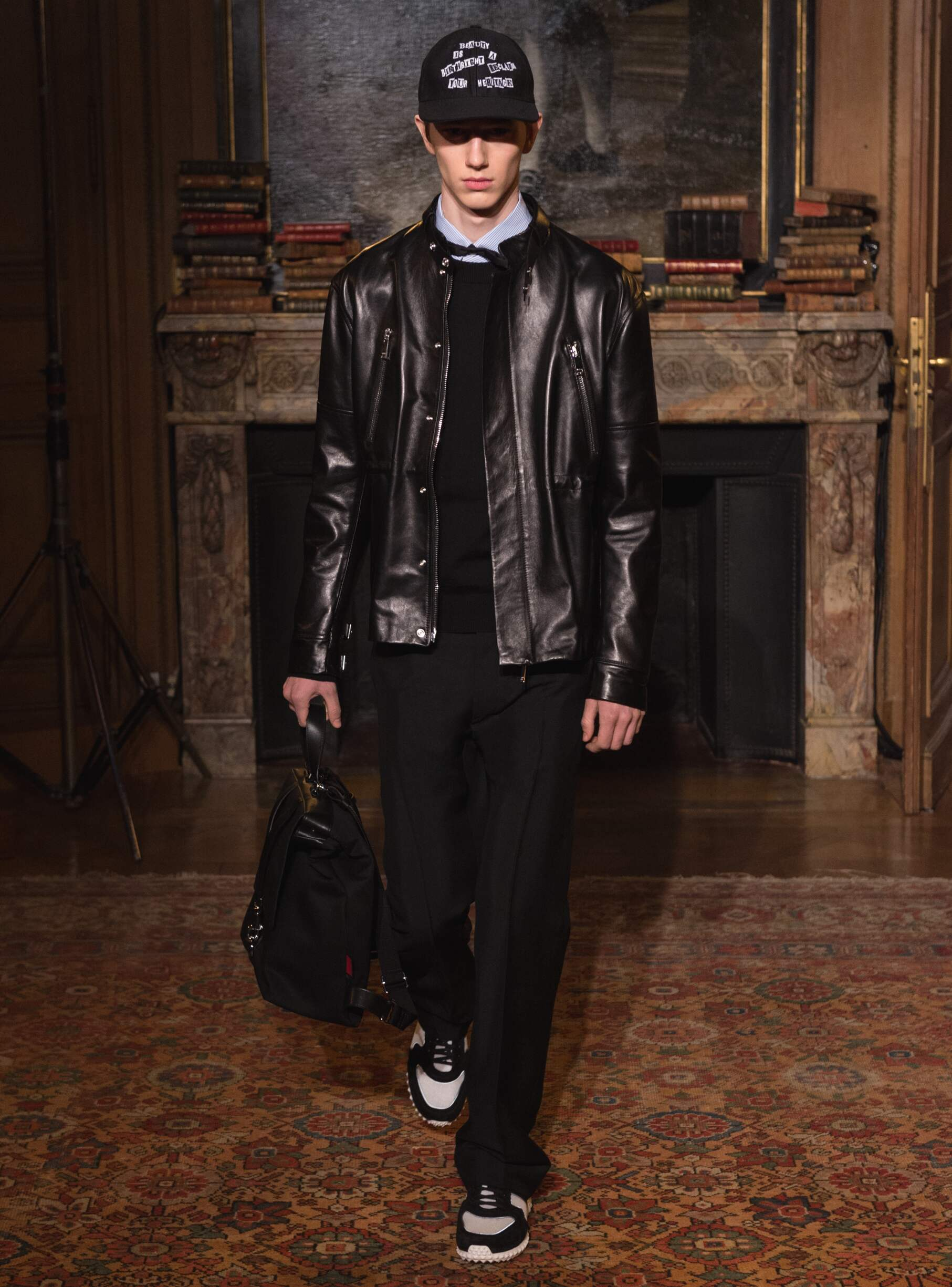 Fashion Man Model Valentino Catwalk