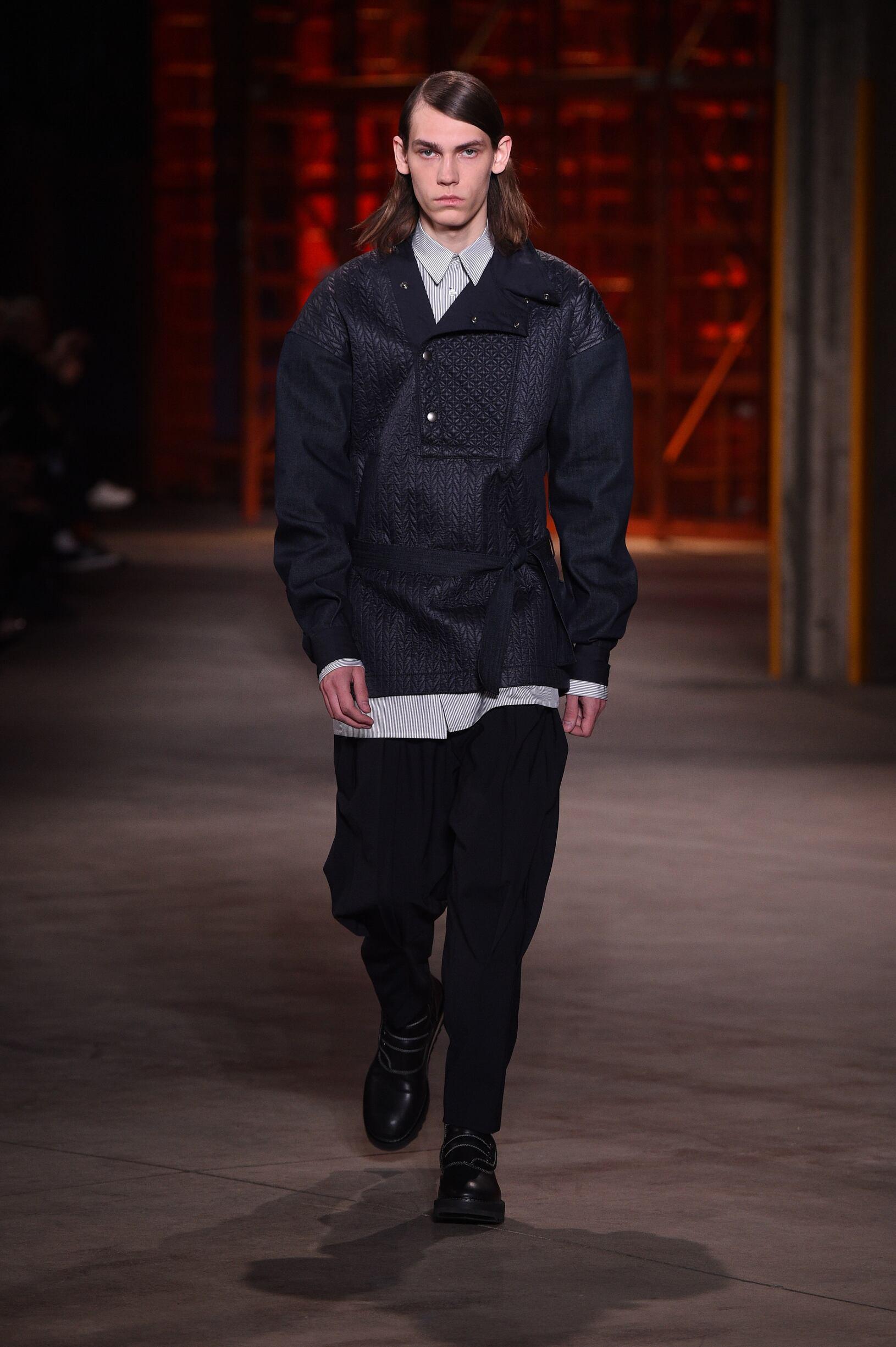 Fashion Model Diesel Black Gold Catwalk