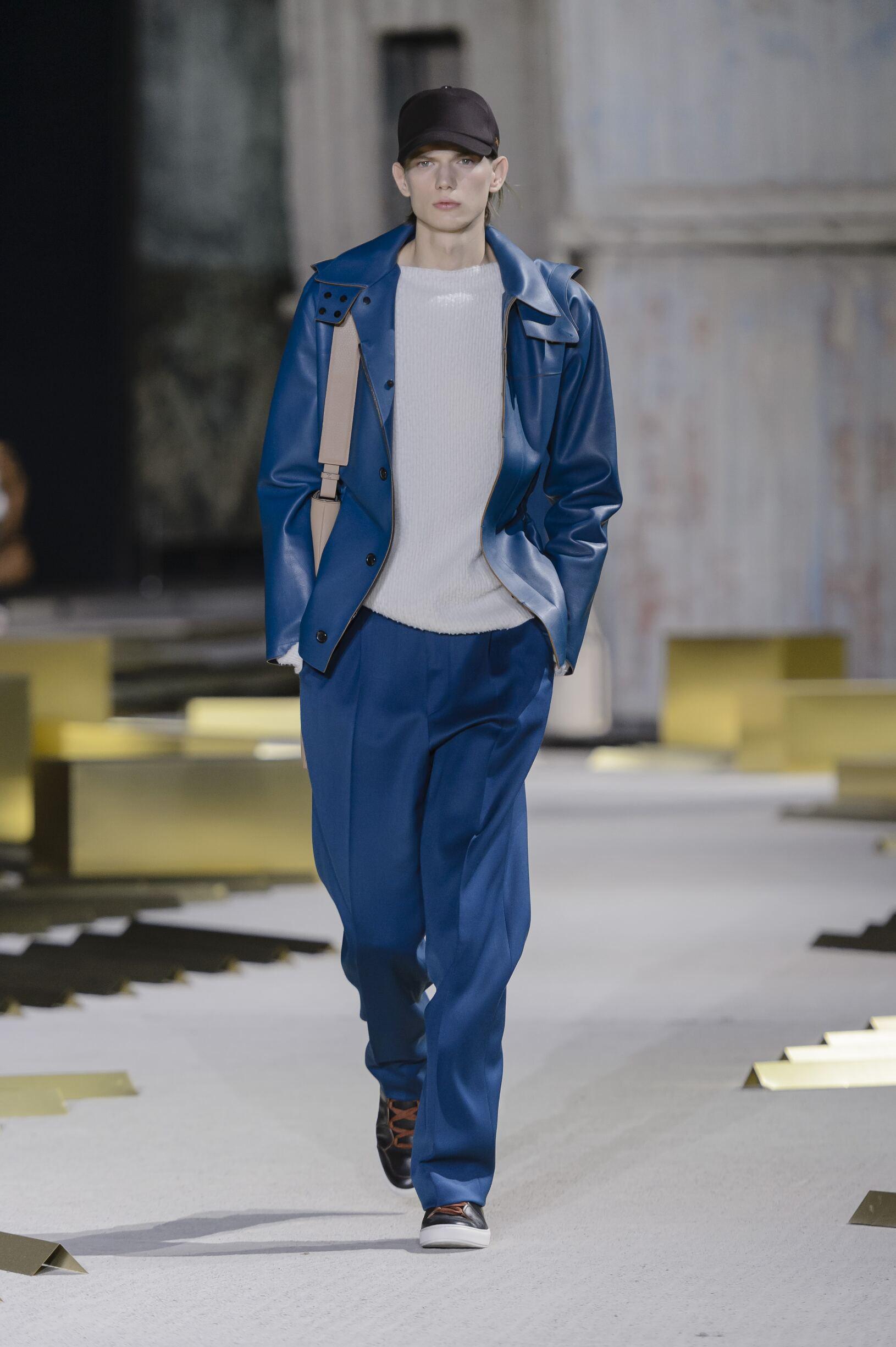 Fashion Model Ermenegildo Zegna Catwalk