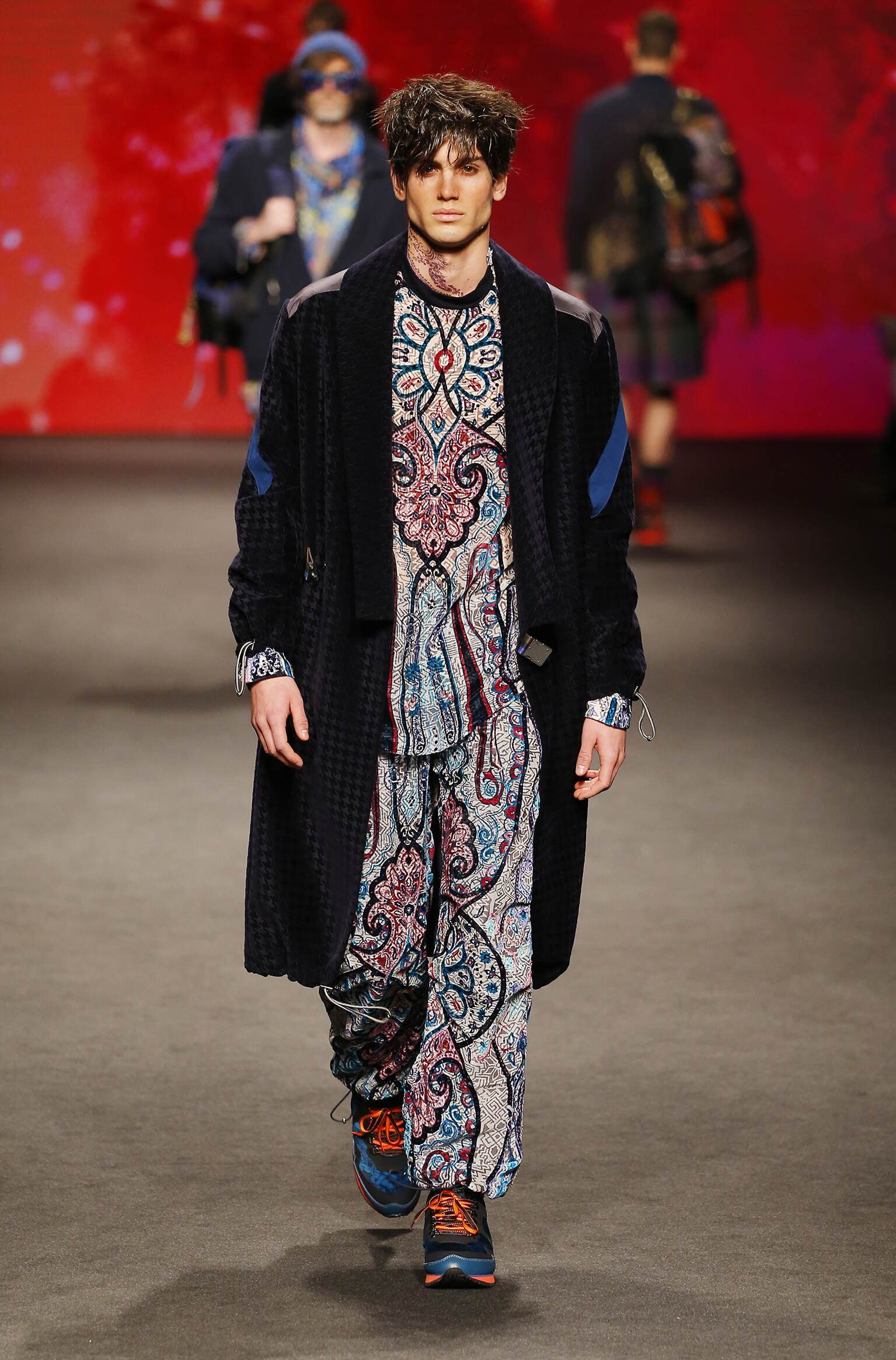 Fashion Model Etro Catwalk