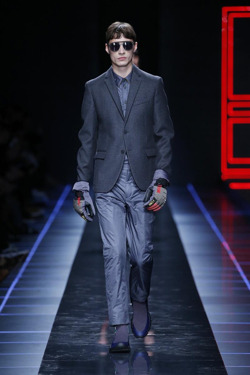Fashion Model Fendi Catwalk