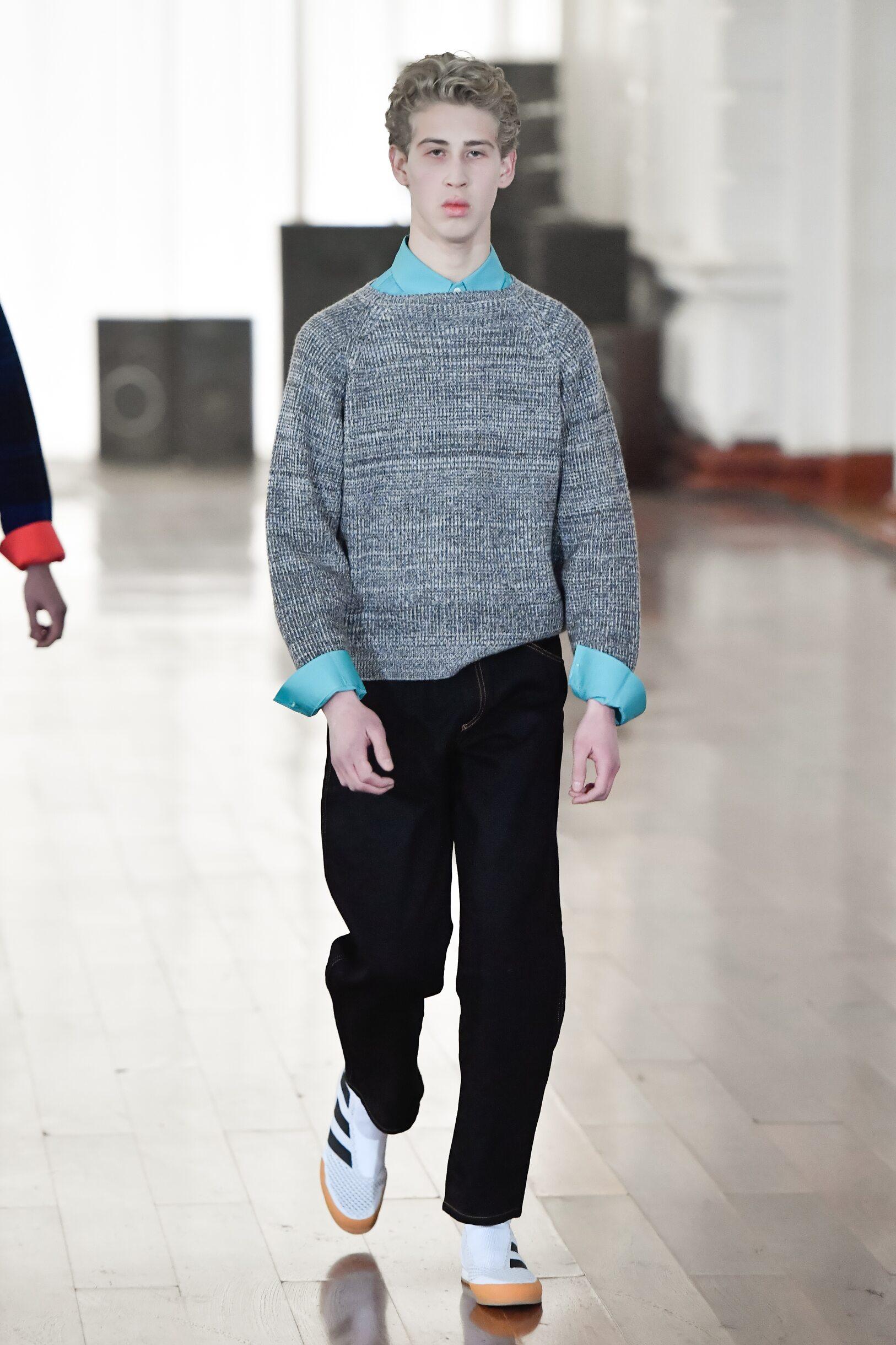Fashion Model Gosha Rubchinskiy Catwalk