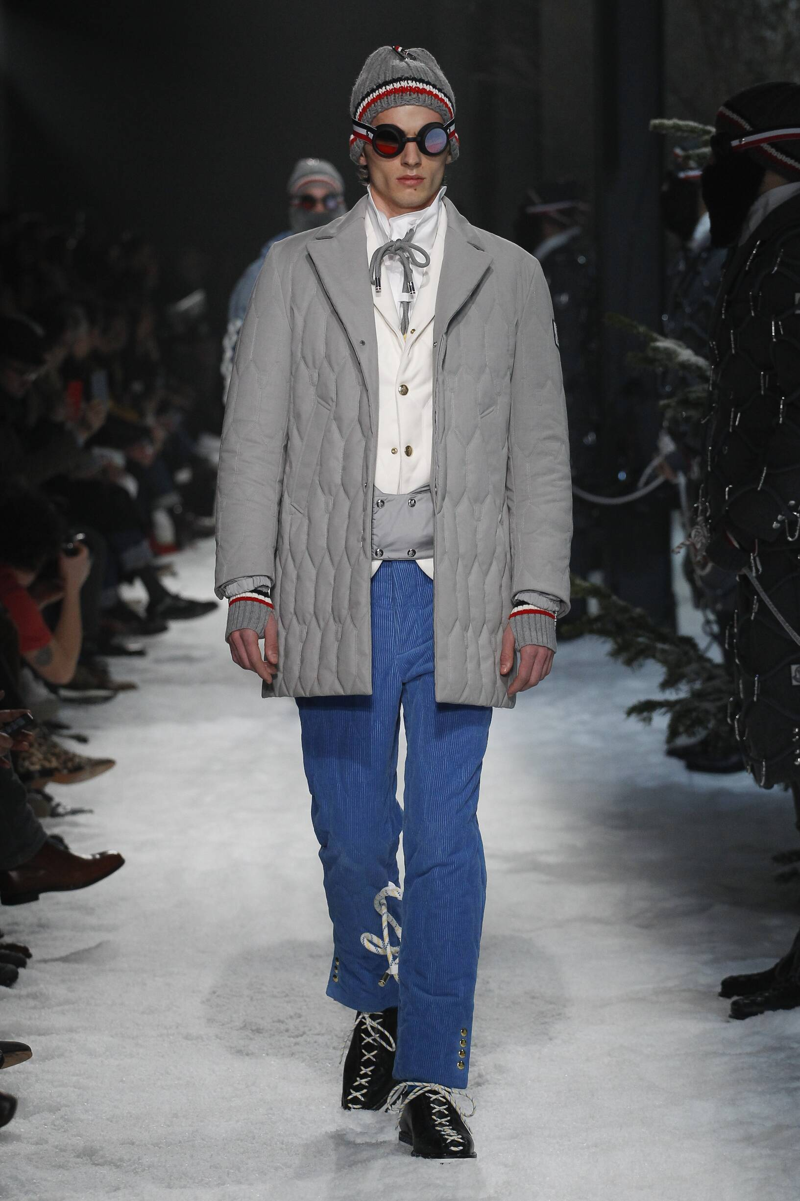 Fashion Model Moncler Gamme Bleu Catwalk