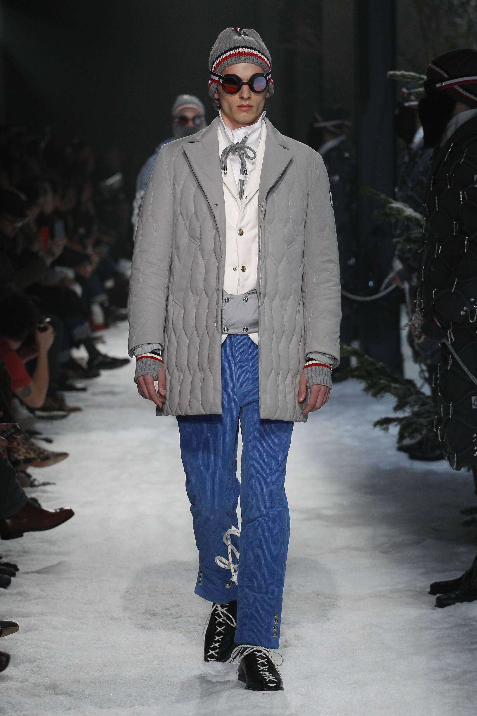 Fashion Model Moncler Gamme Bleu Catwalk