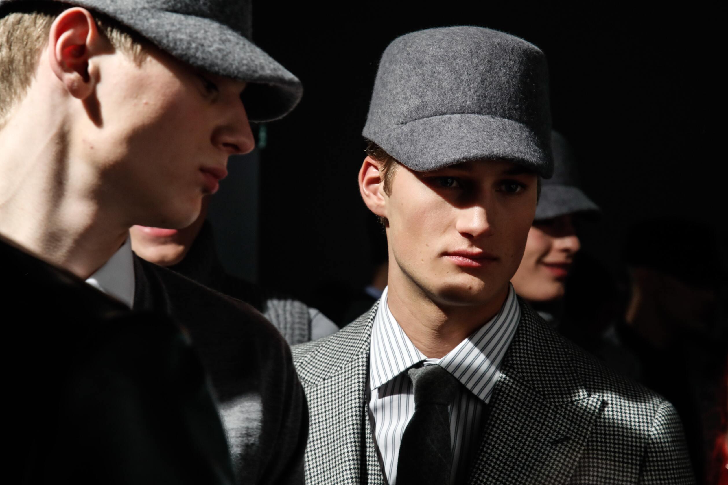Fashion Models Daks Menswear Backstage