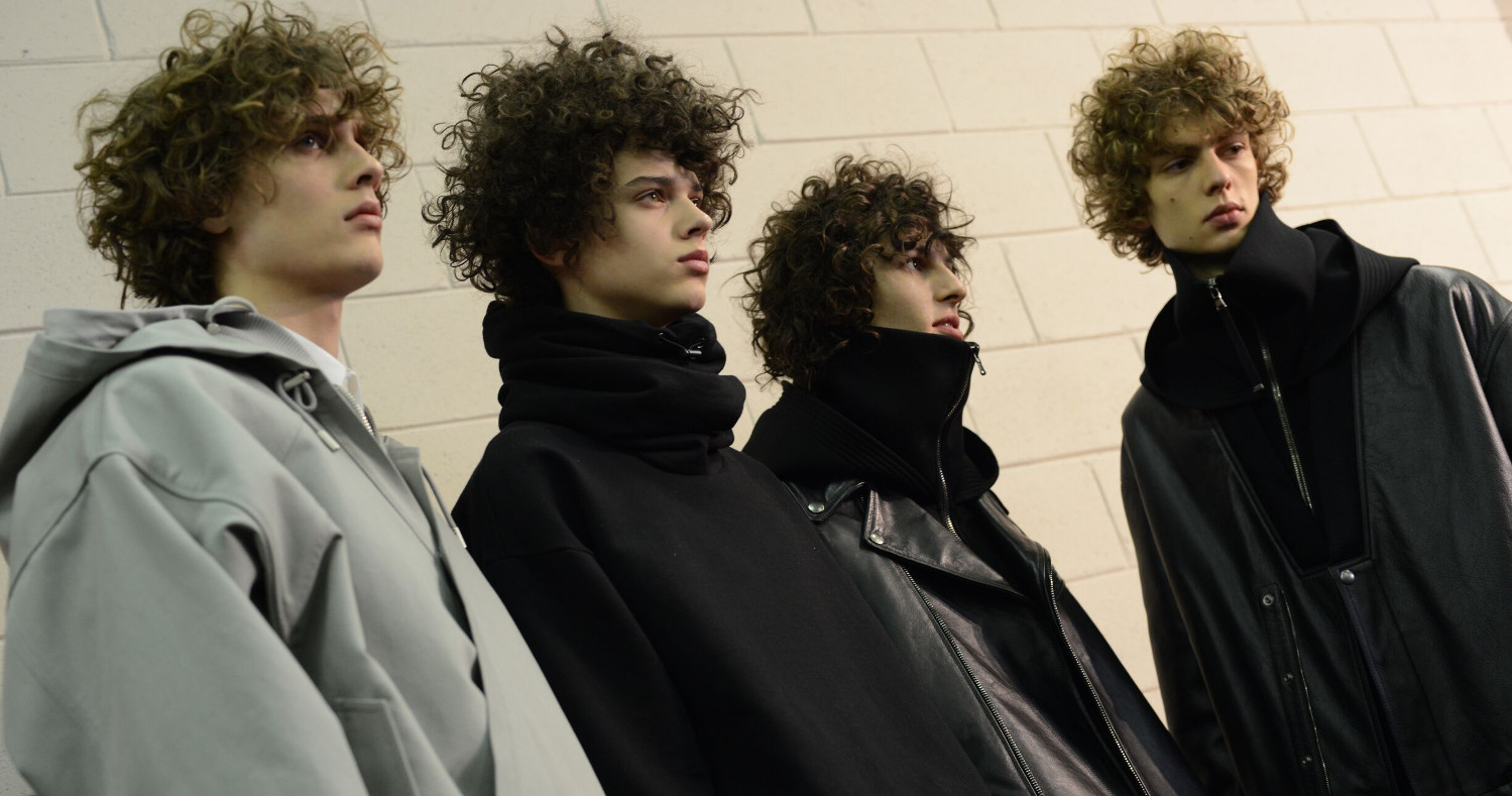 Fashion Models Diesel Black Gold Menswear Backstage Milan