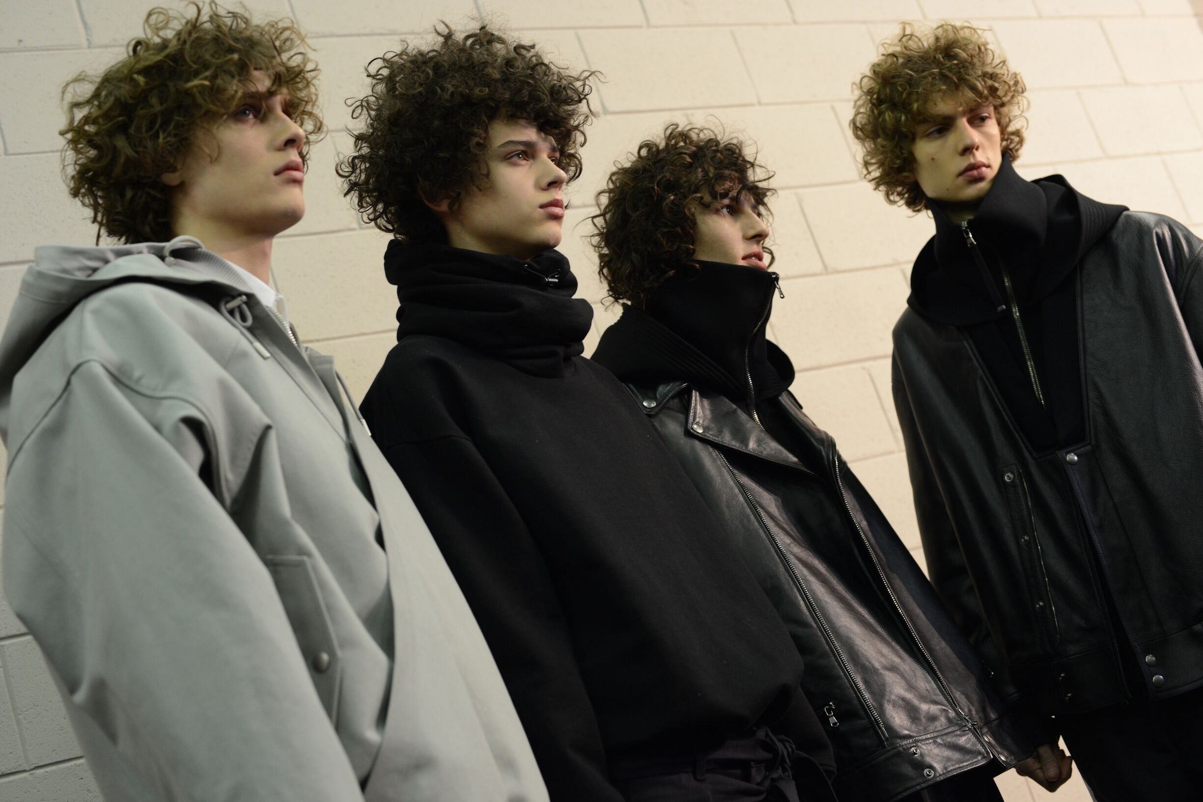 Fashion Models Diesel Black Gold Menswear Backstage