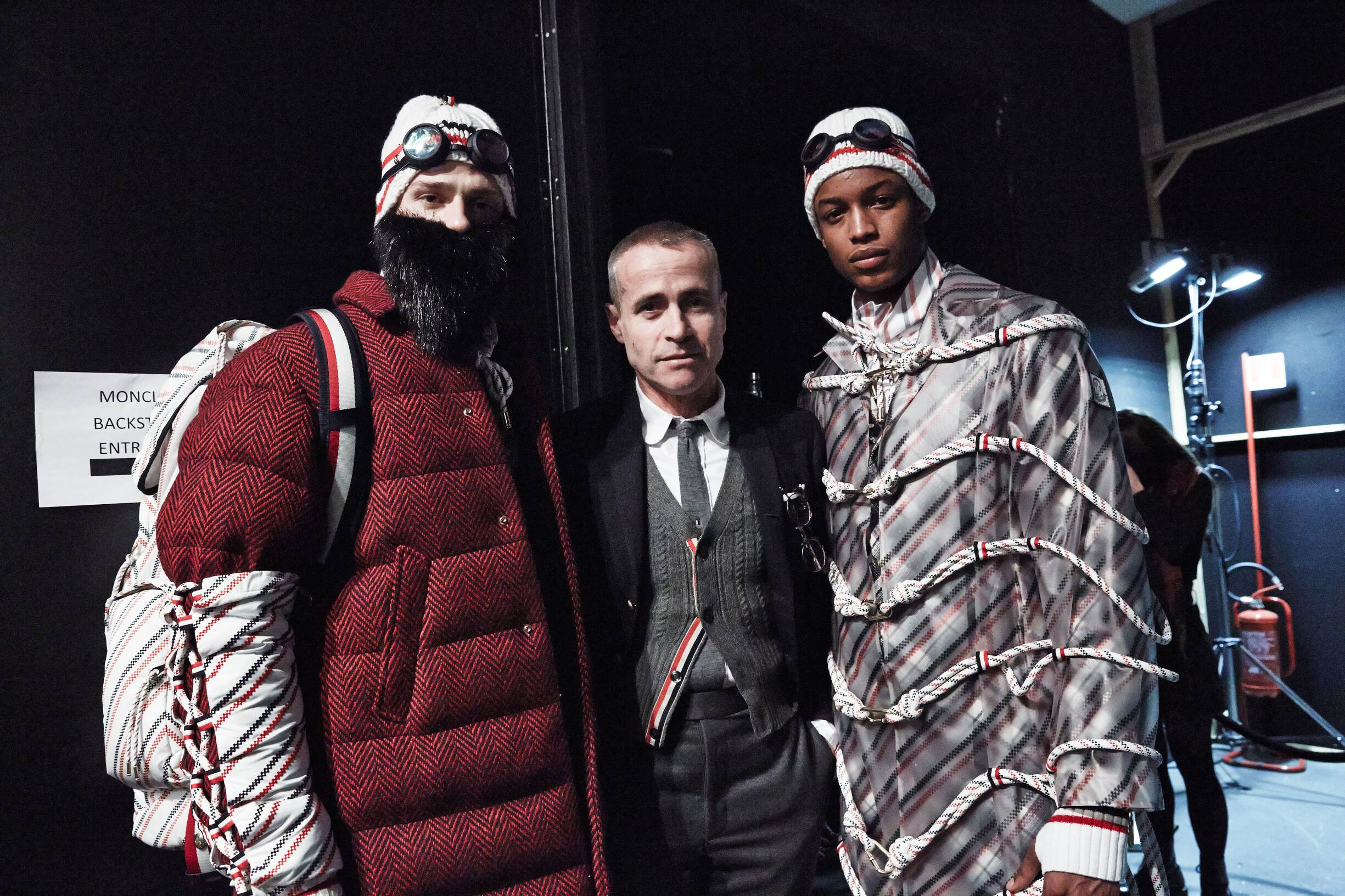 Fashion Moncler Gamme Bleu Models and Thom Browne Backstage