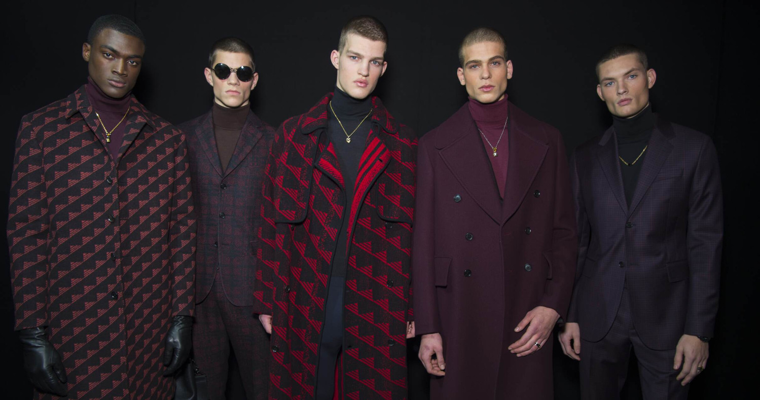 Fashion Versace Menswear Backstage Milan