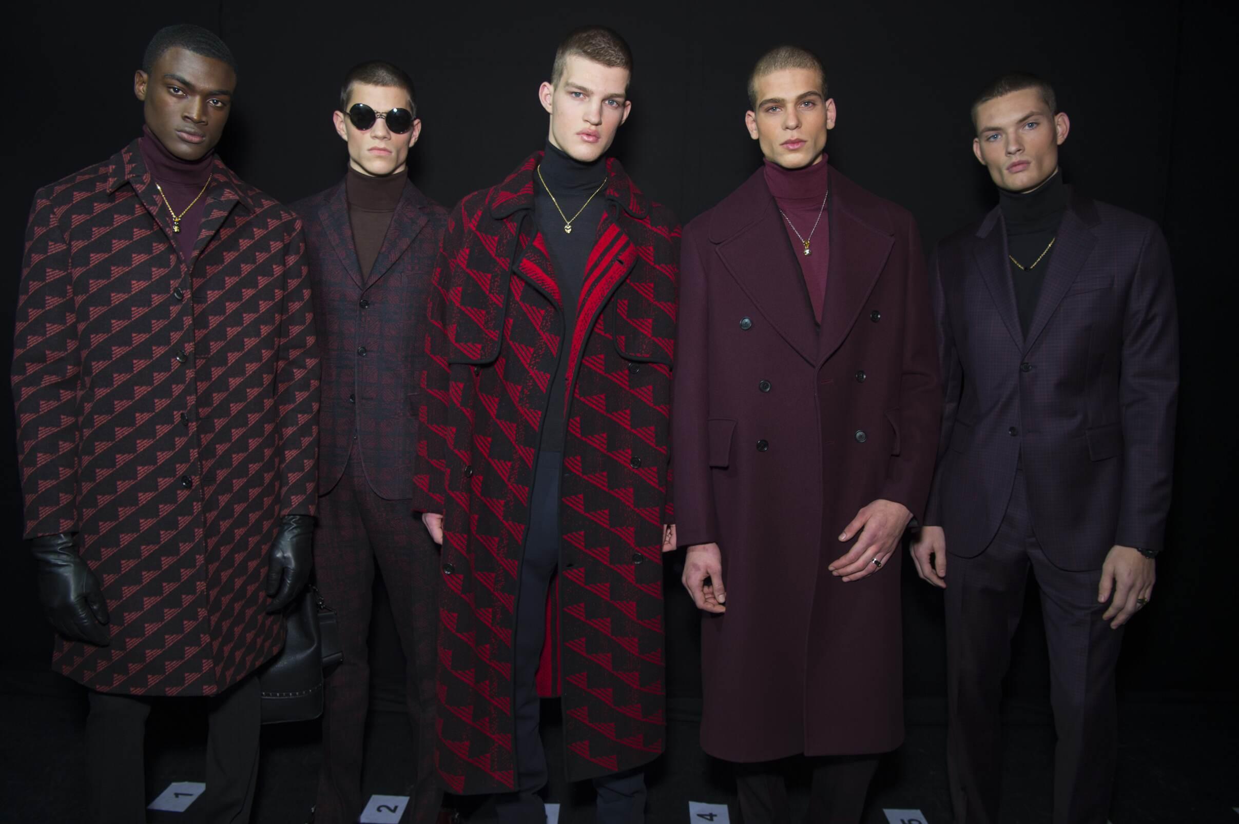Fashion Versace Menswear Backstage
