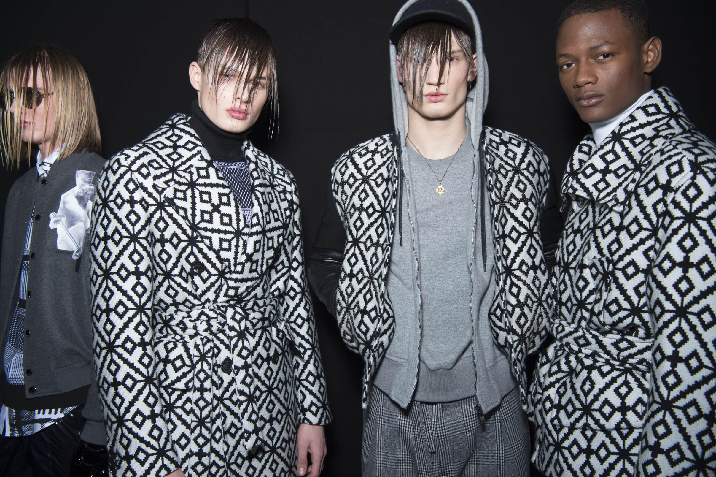 Men Models Backstage Versace