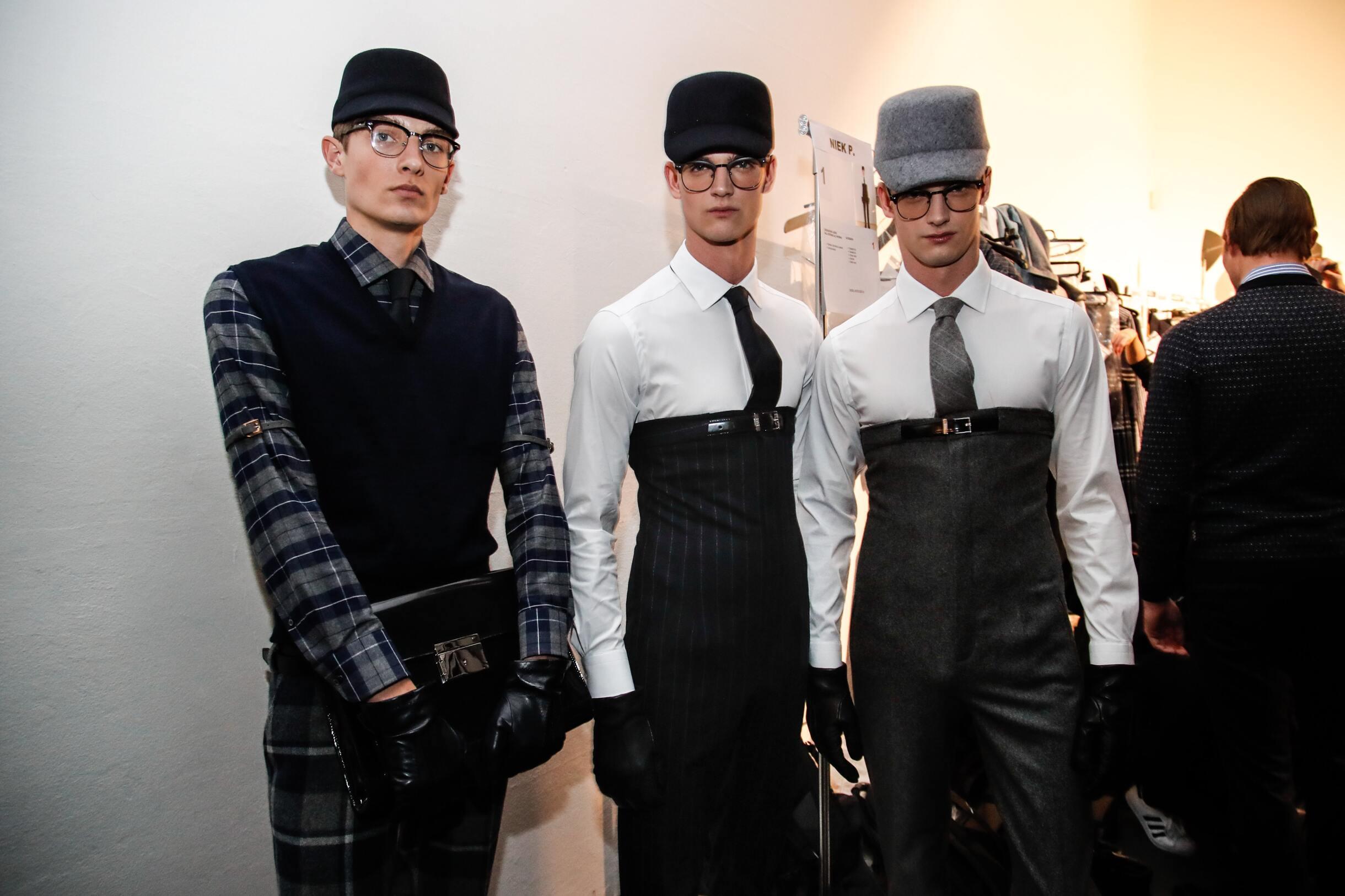 Men Models Daks Backstage Milan Fall Winter 2017-18