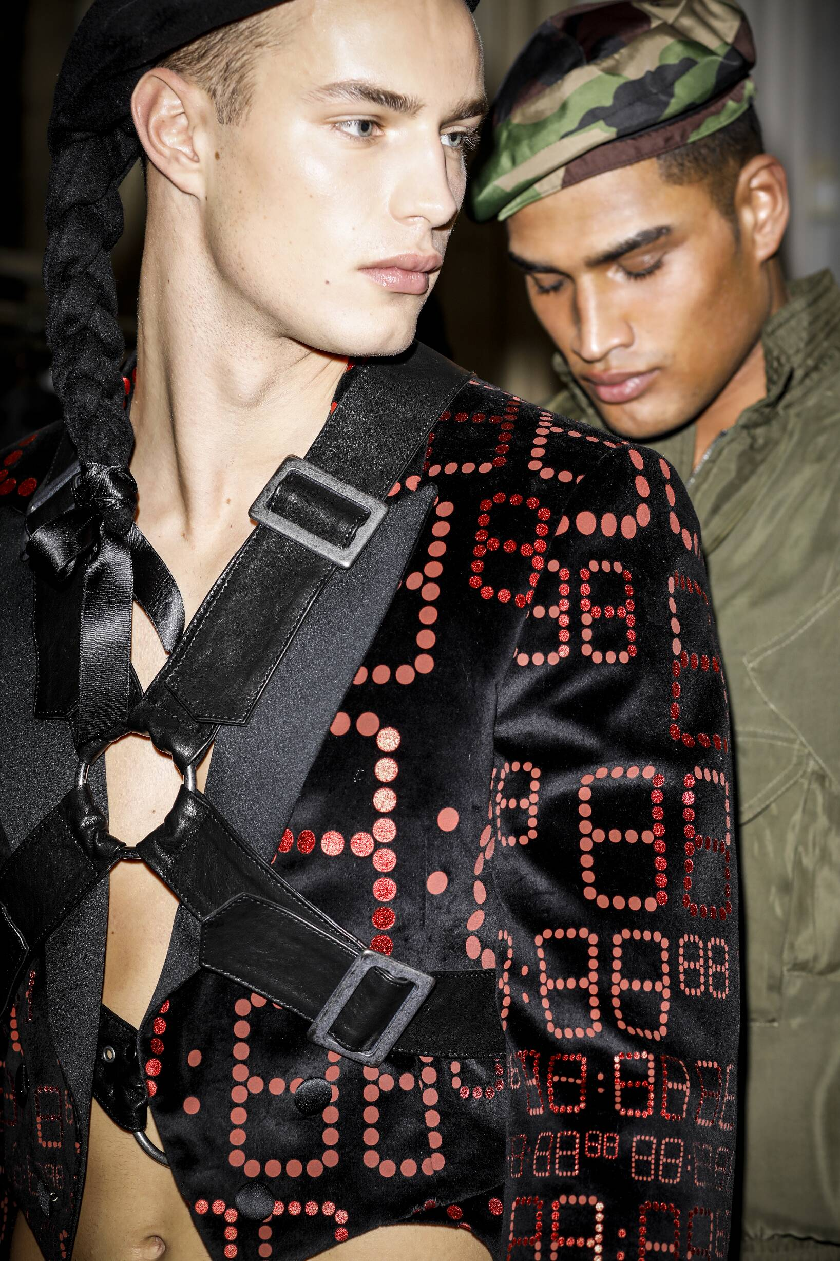 Men Models Moschino Backstage