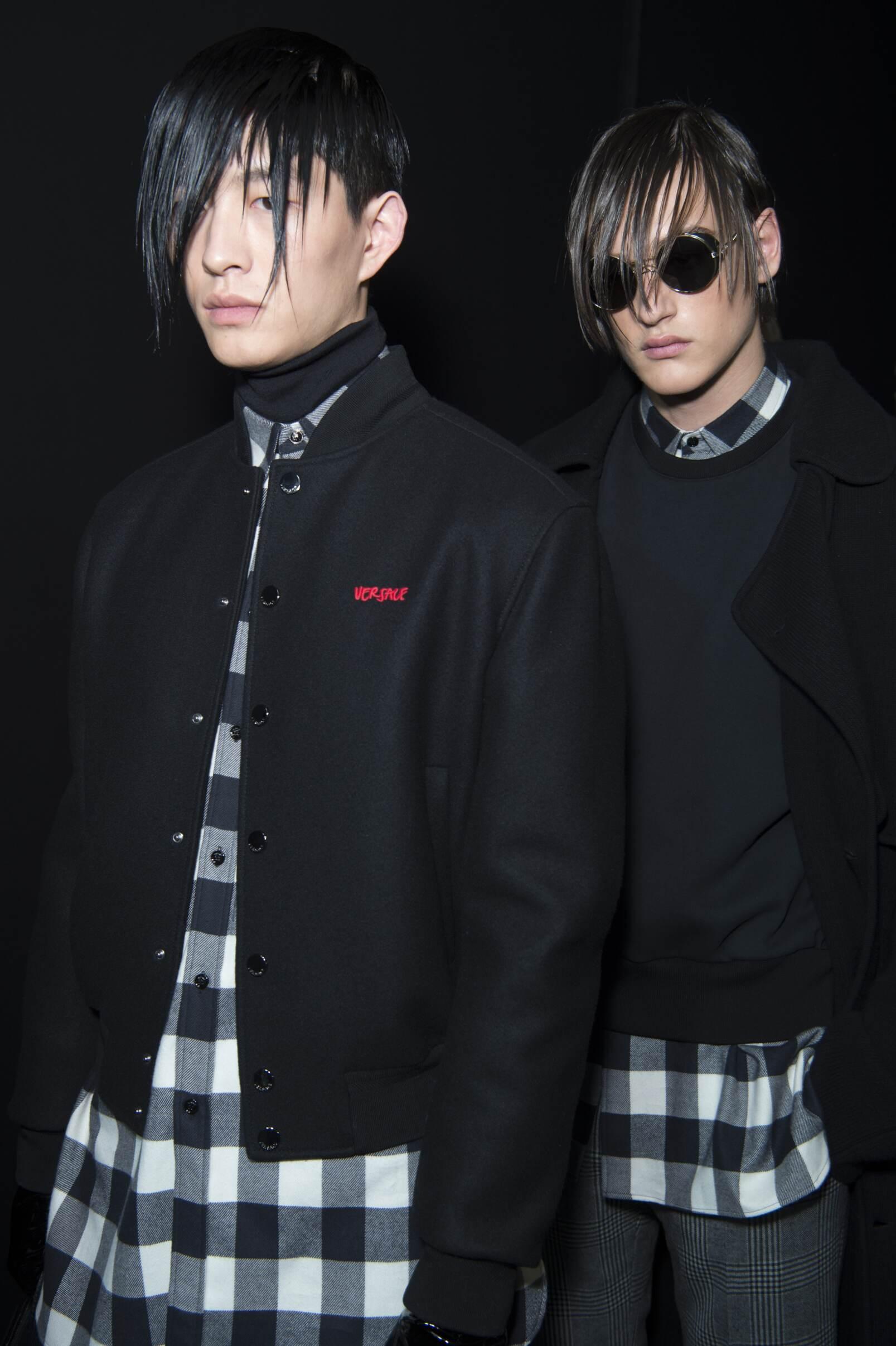 Menswear Versace Models 2017