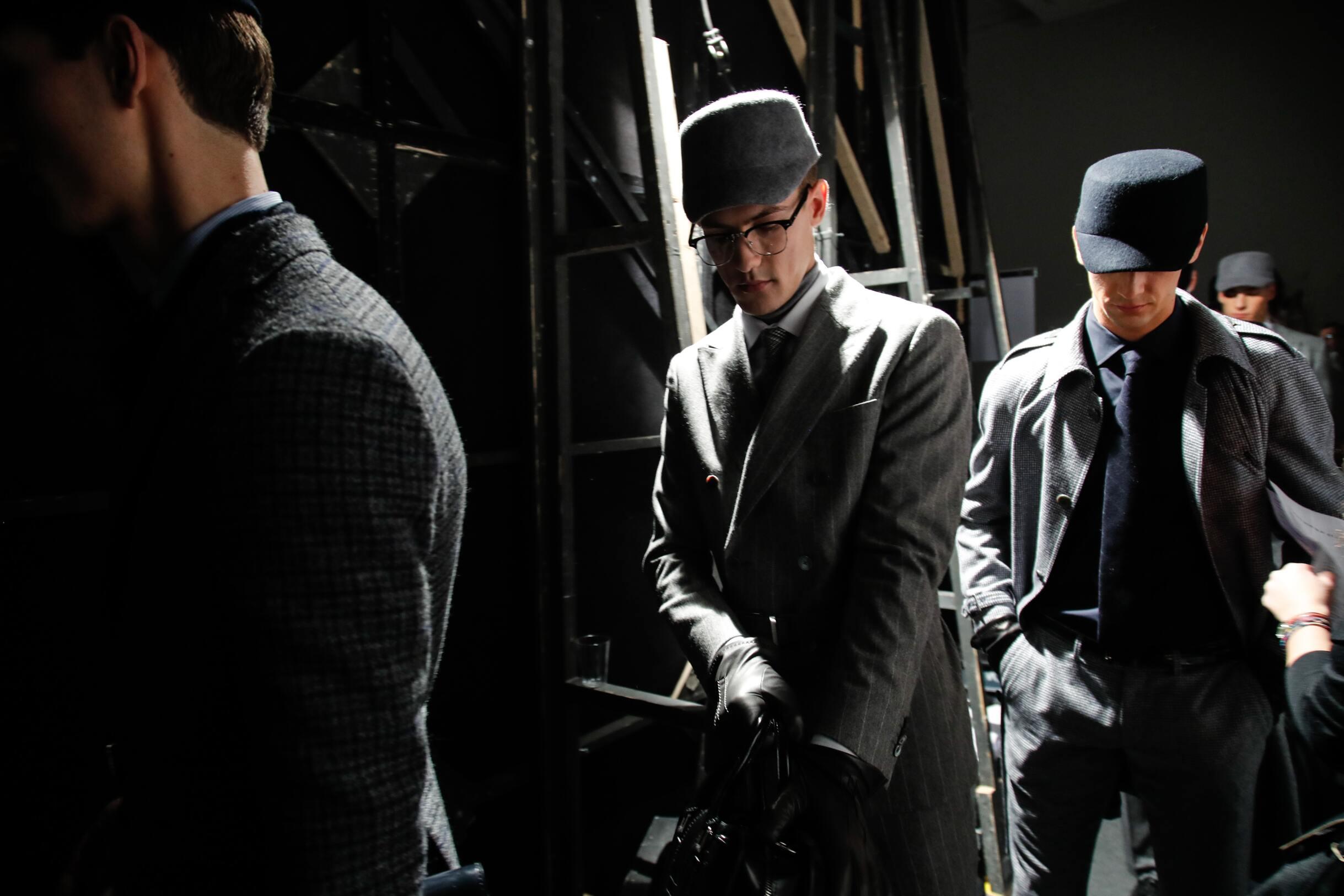 Models Backstage Daks Milan Fashion Week