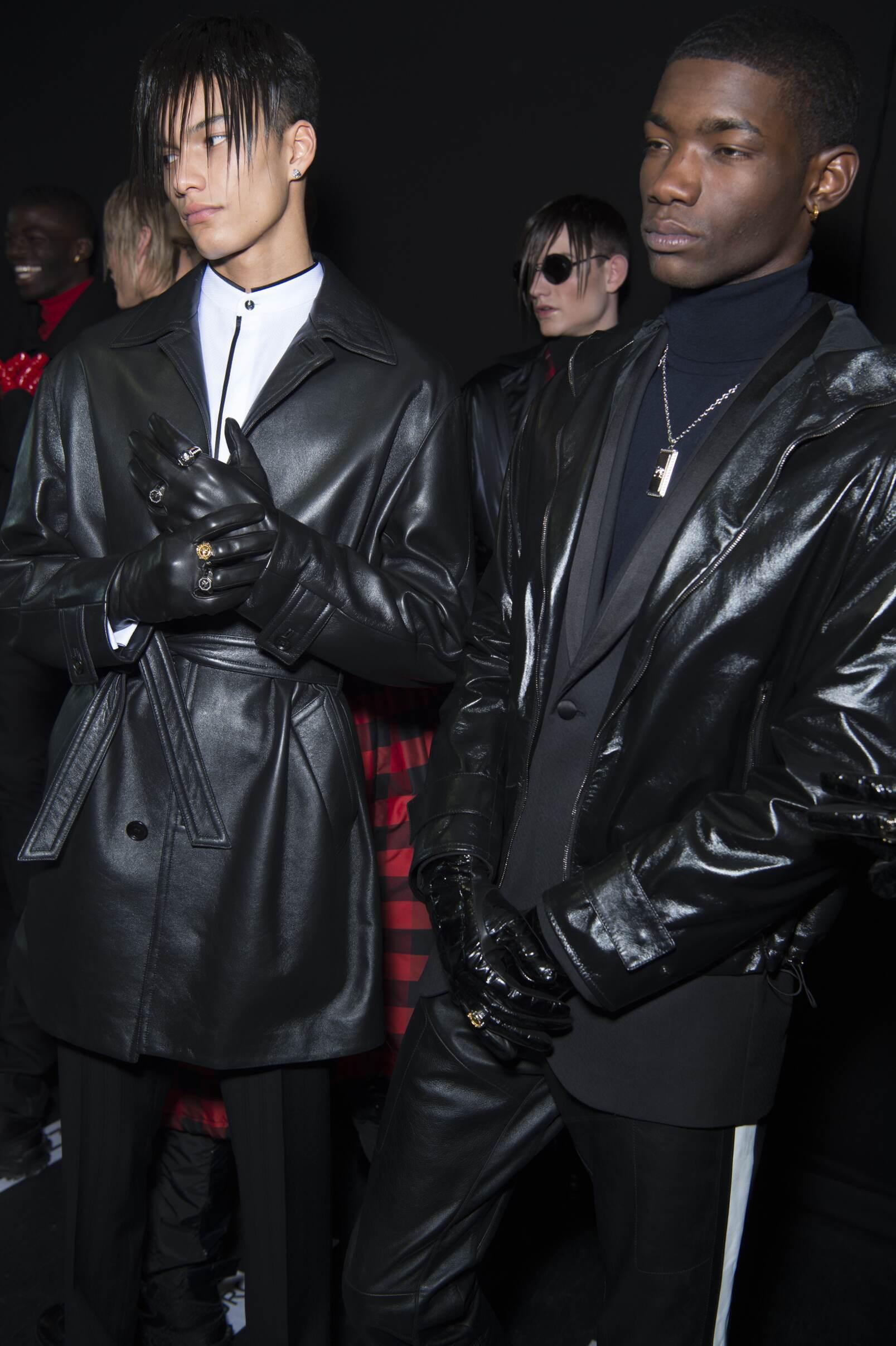 Models Backstage Details Versace