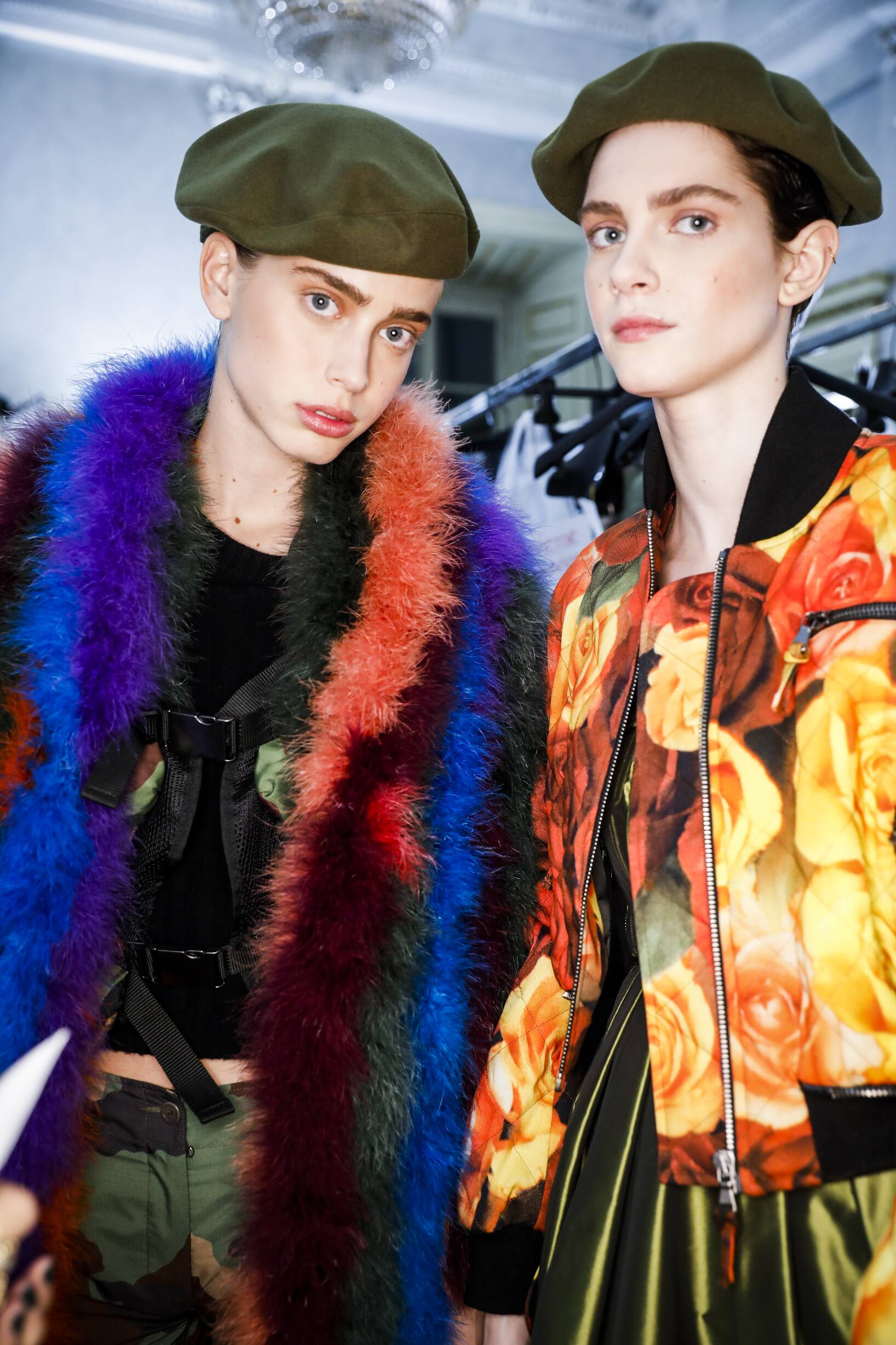 Models Backstage Moschino Fashion Show