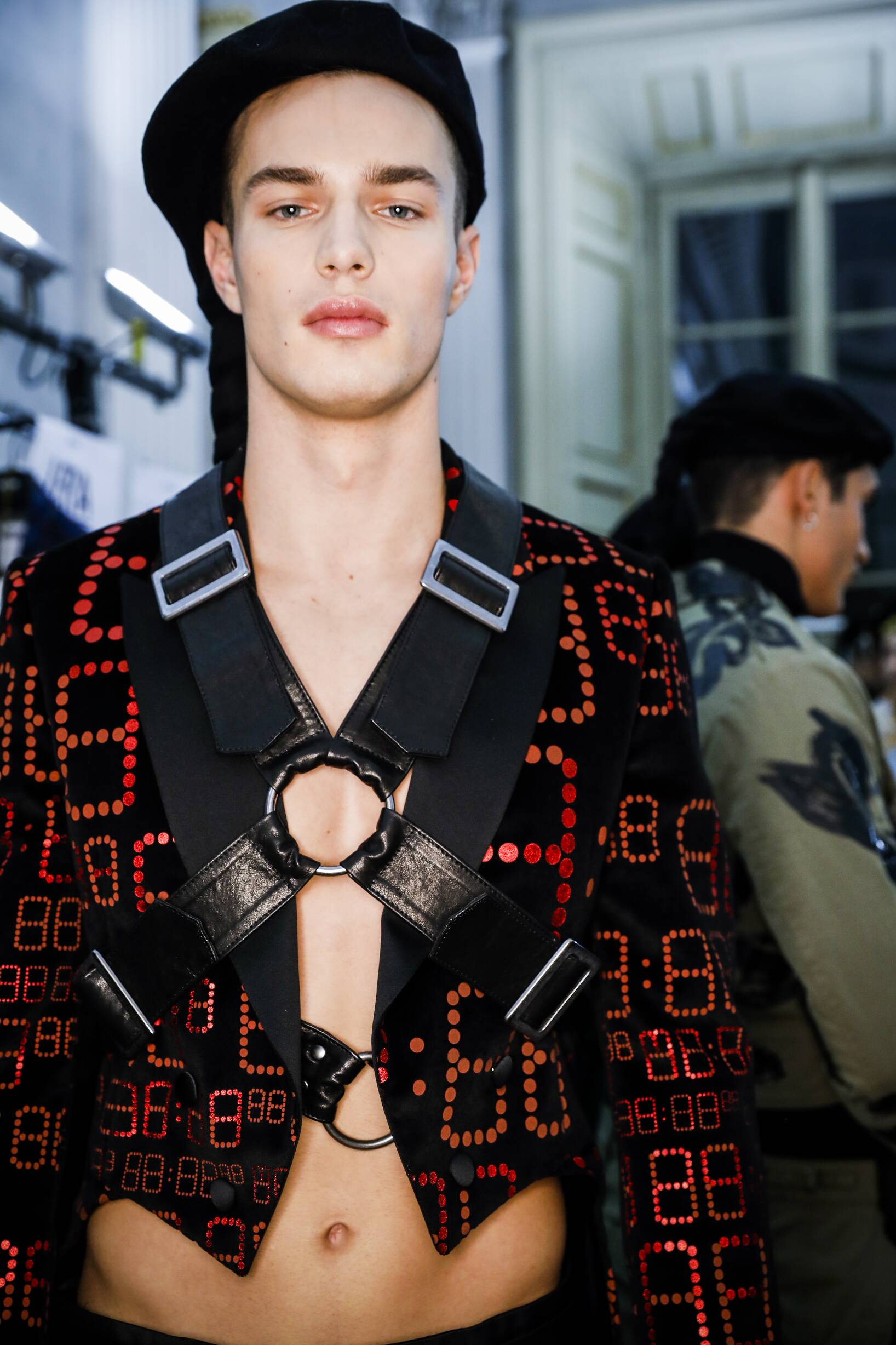 Moschino Backstage Man Model