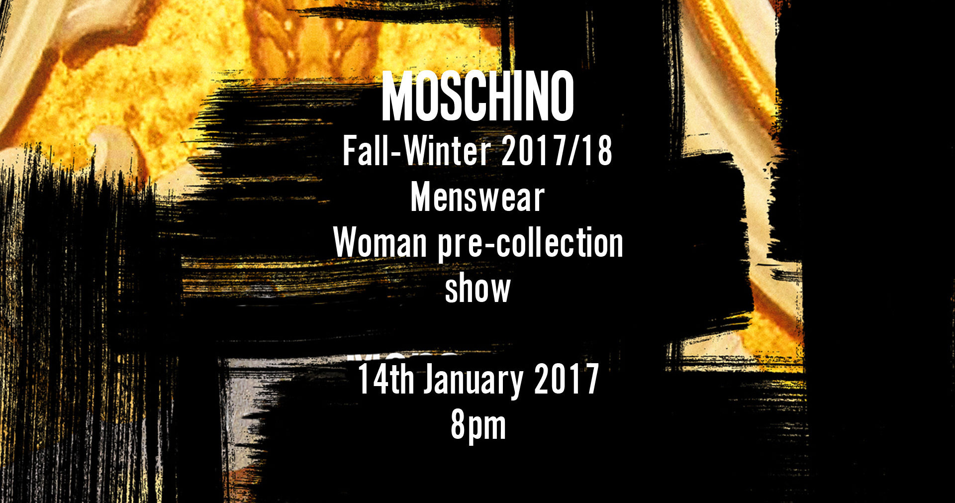 Moschino Fall Winter 2017-18 Men's Fashion Show Live Streaming Milan
