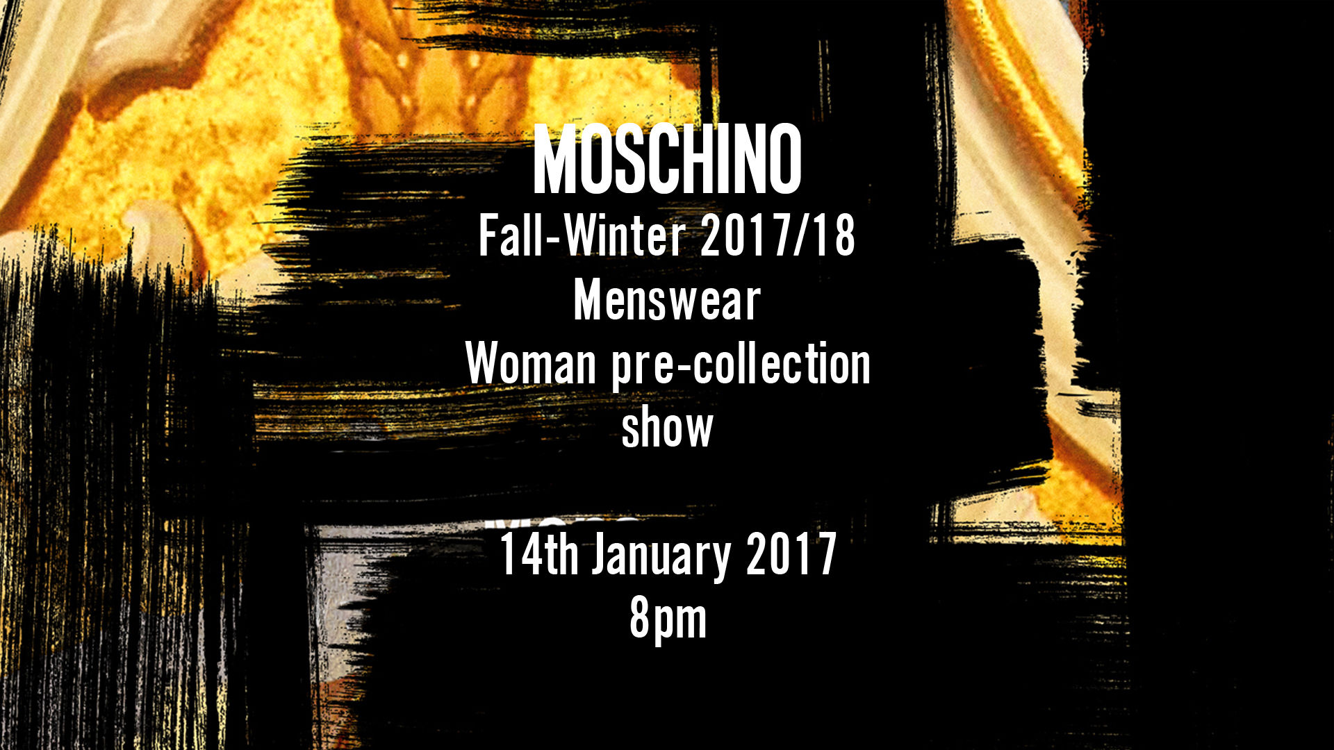 Moschino Fall Winter 2017-18 Men's Fashion Show Live Streaming