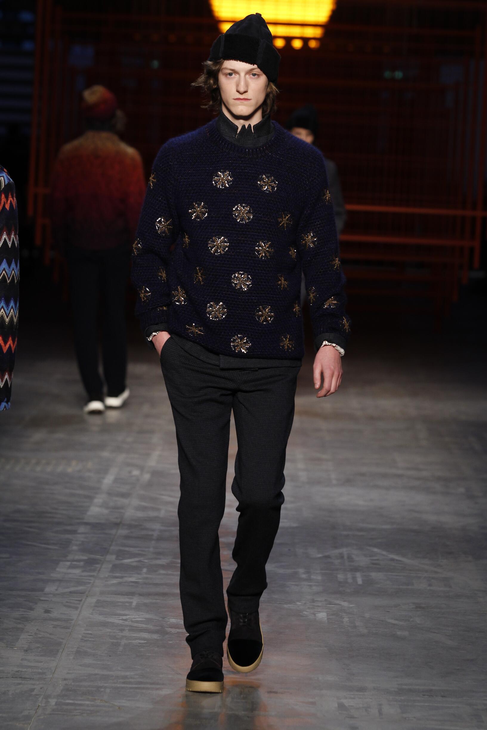 Runway Missoni Fall Winter 2017 Men's Collection Milan Fashion Week