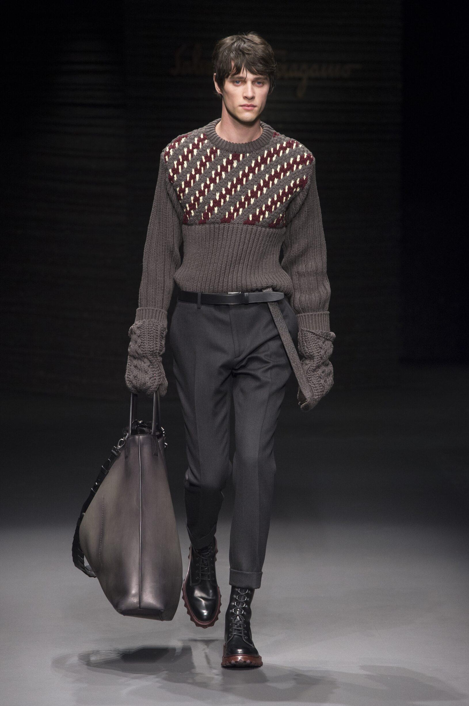 Runway Salvatore Ferragamo Fall Winter 2017 Men's Collection Milan Fashion Week