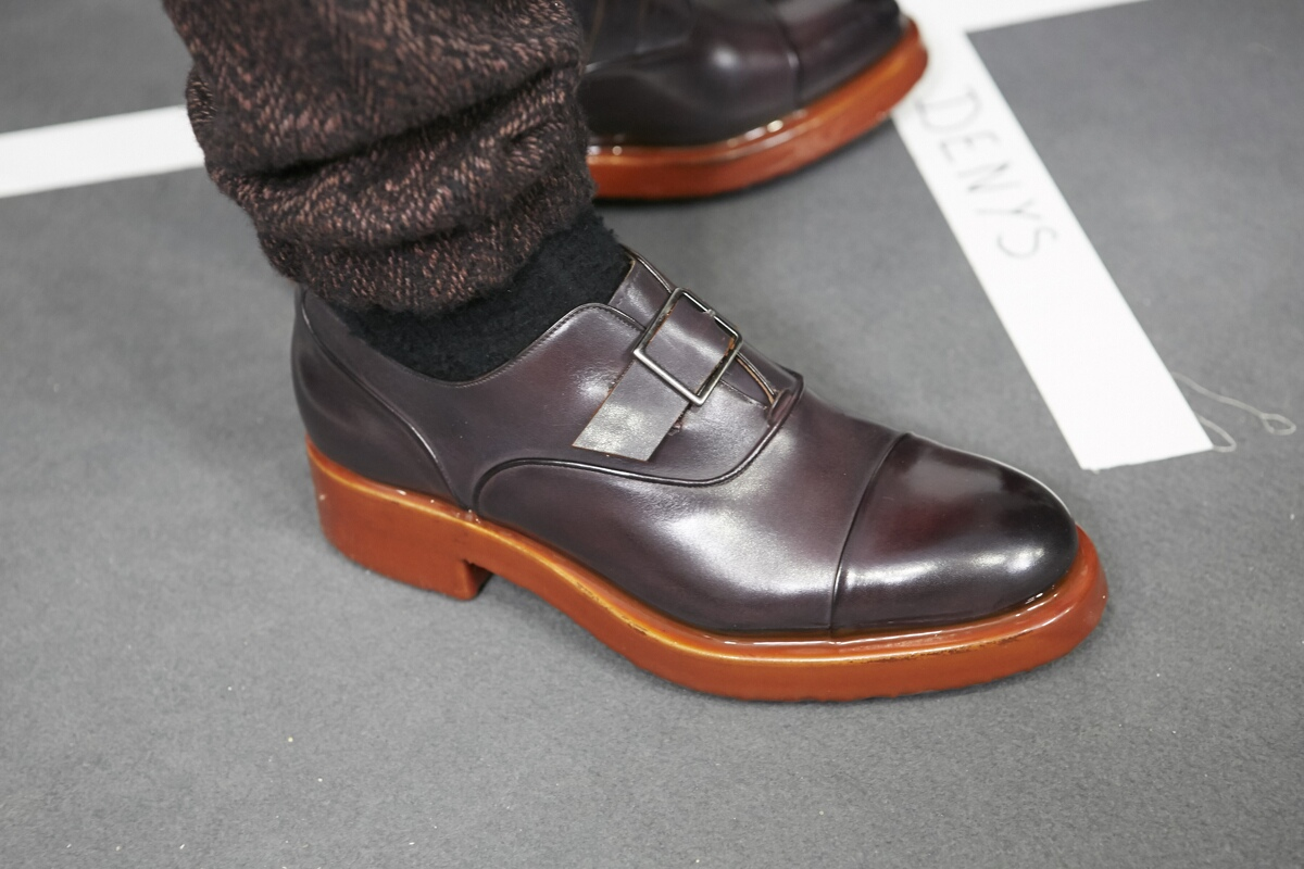 Shoes Detail Backstage Ermenegildo Zegna Milan Fashion Week