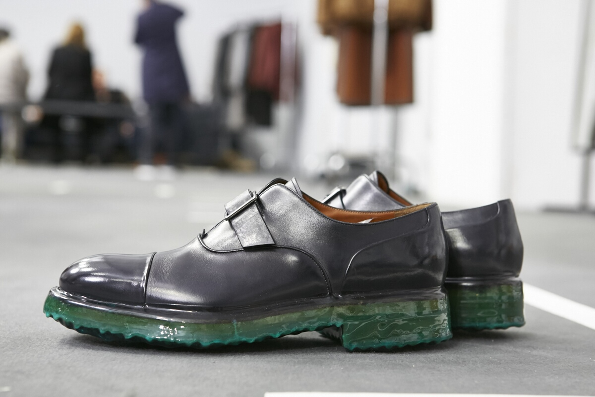Shoes Detail Backstage Ermenegildo Zegna