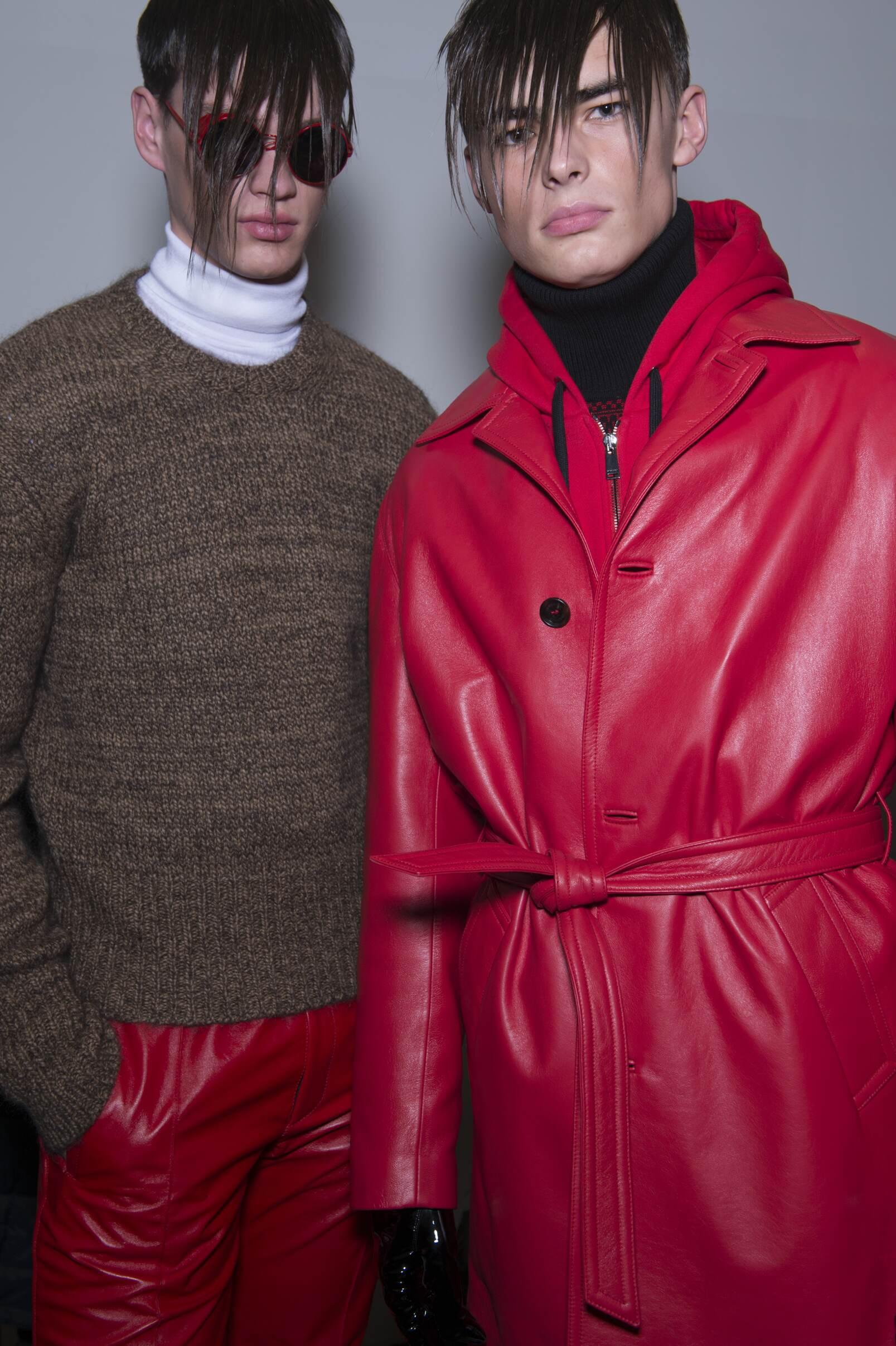 Versace Backstage Fashion Show Models Portrait