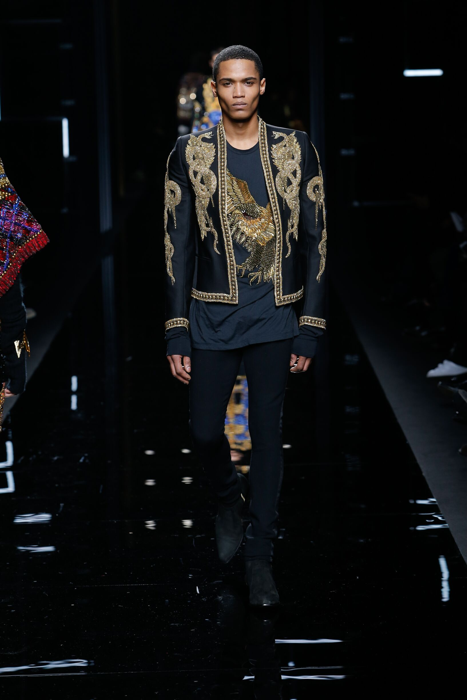 2017 Catwalk Balmain Man Fashion Show Winter Fashion Week