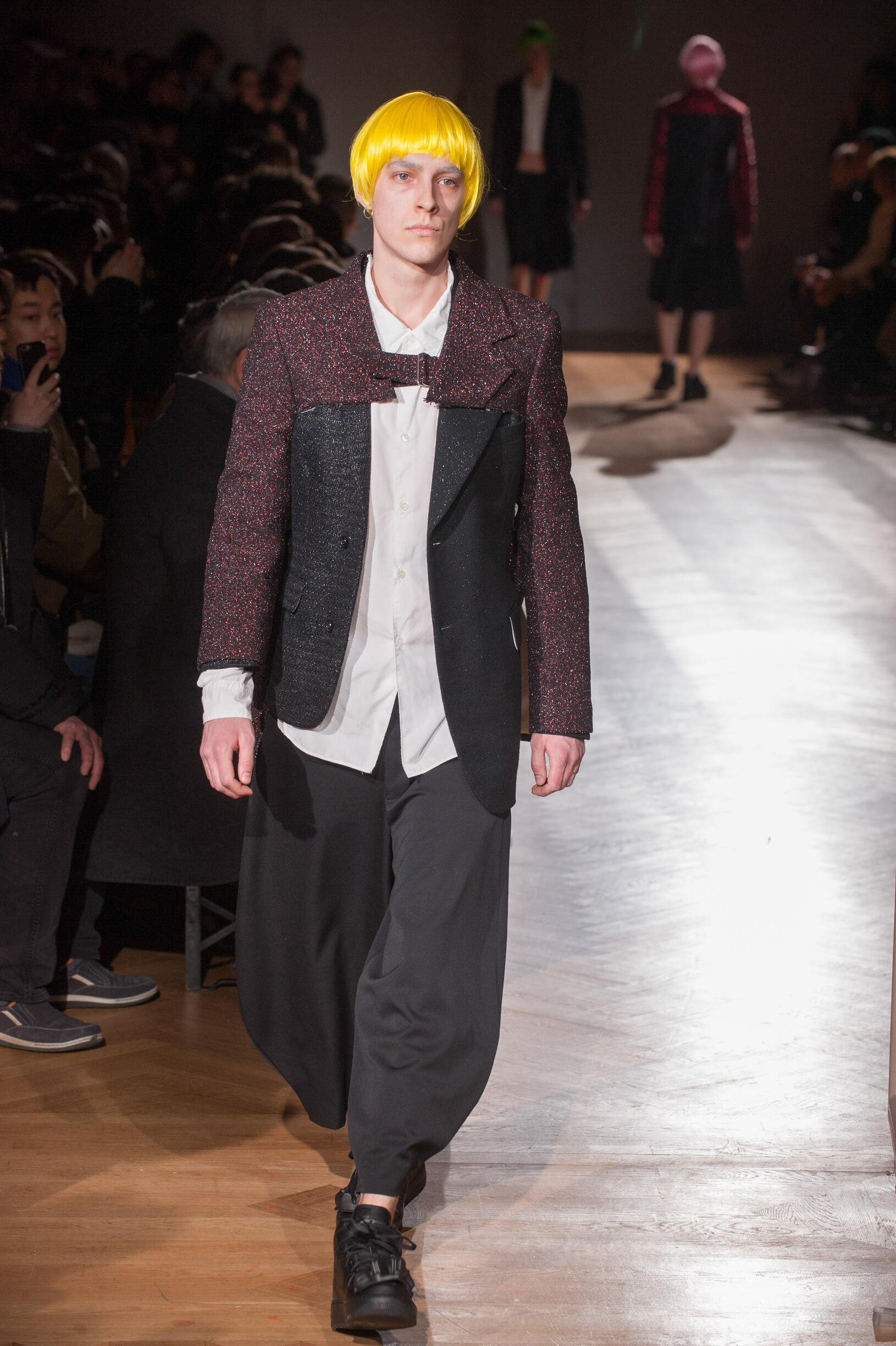 2017 Catwalk Comme des Garçons Homme Plus Man Fashion Show Winter