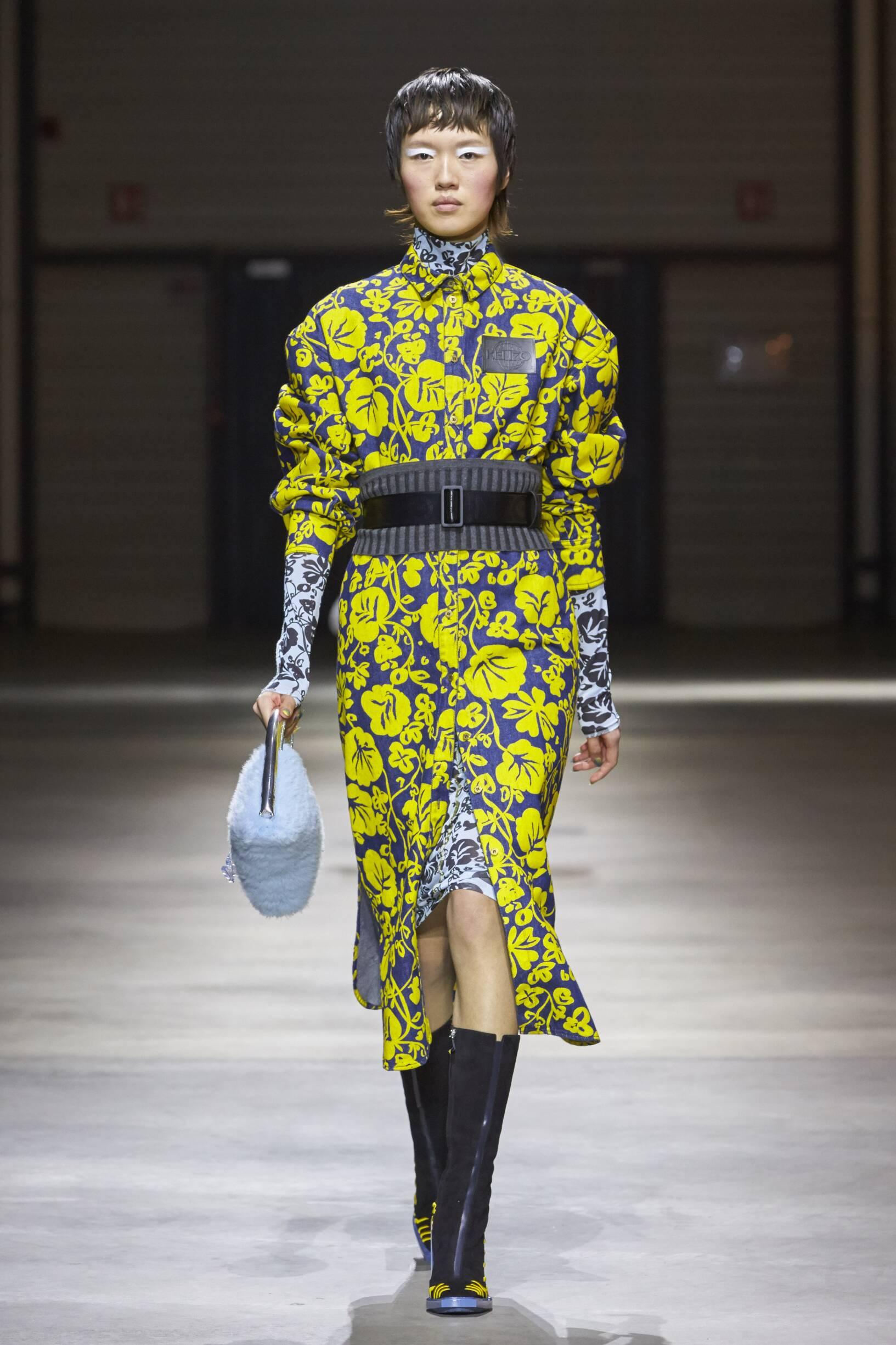 2017 Catwalk Kenzo Woman Winter