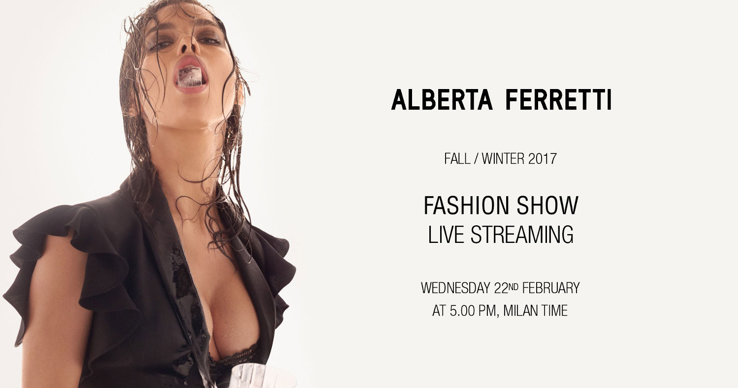 Alberta Ferretti Fall Winter 2017-18 Fashion Show Live Streaming Milan