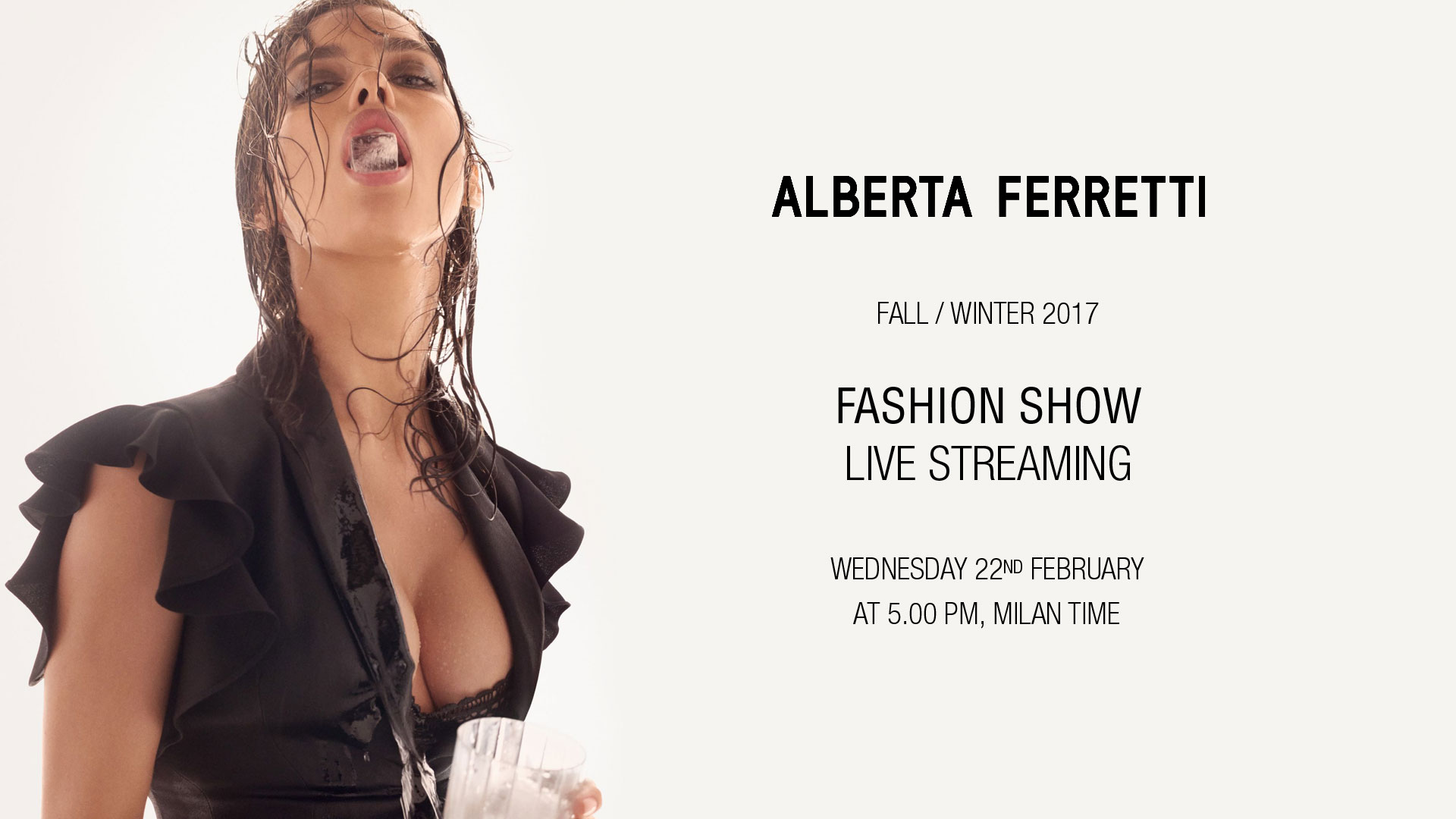 Alberta Ferretti Fall Winter 2017-18 Fashion Show Live Streaming