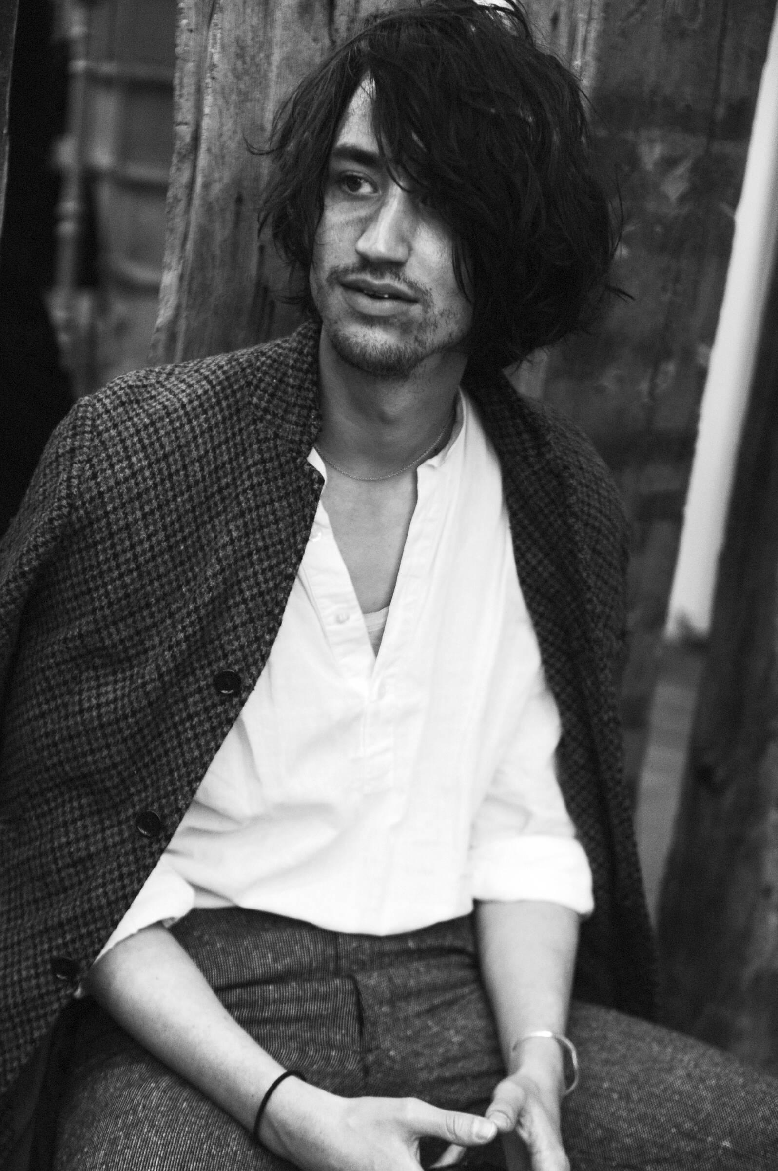 Backstage Yohji Yamamoto Fashion Model
