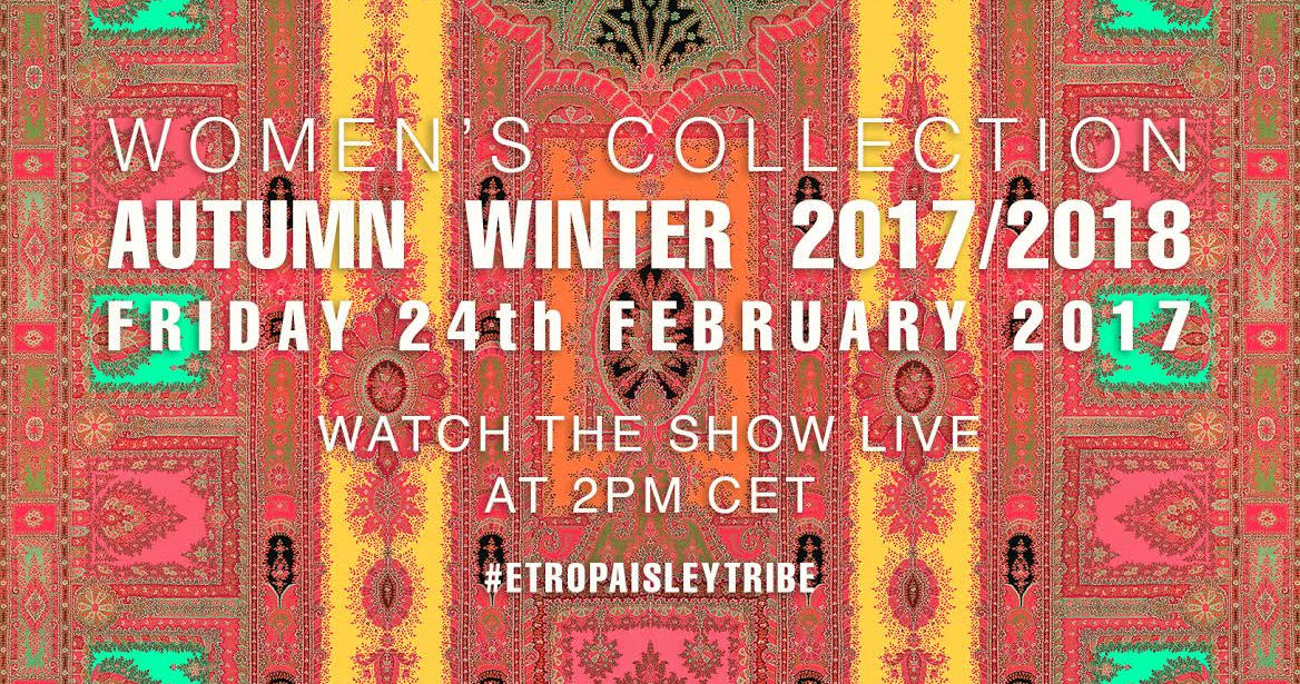 Etro Fall Winter 2017-18 Fashion Show Live Streaming Milan