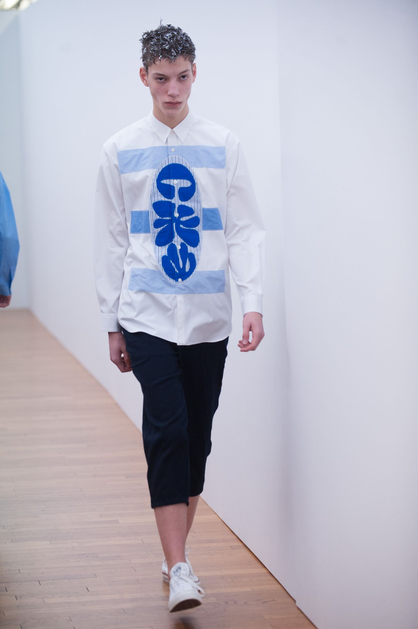 Fashion Man Model Comme Des Garçons Shirt Catwalk