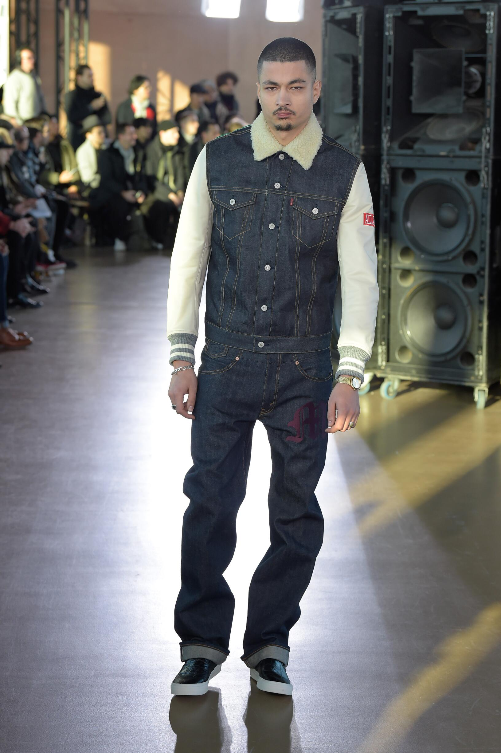 Fashion Man Model Junya Watanabe Catwalk