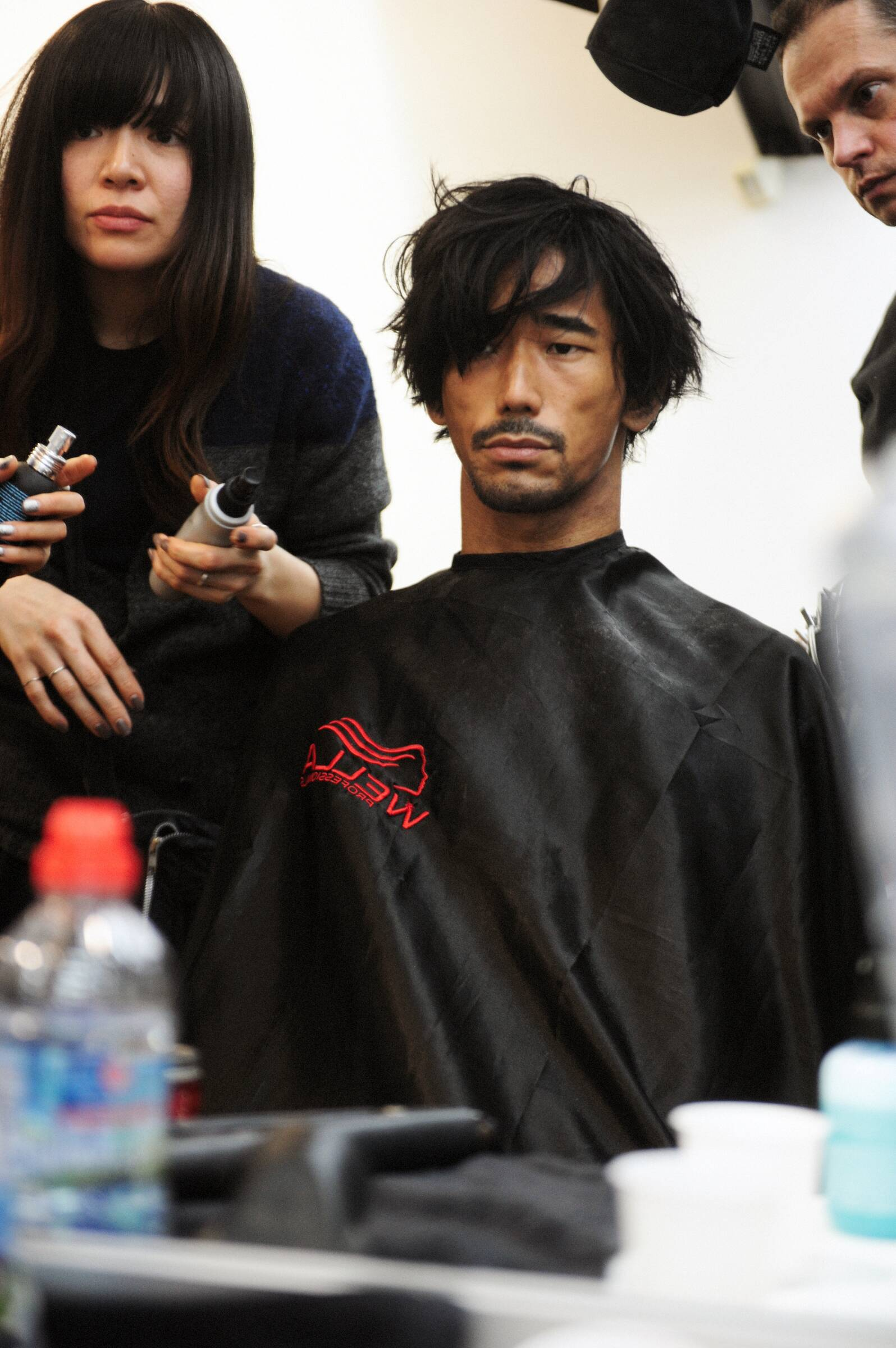 Fashion Model Make Up Yohji Yamamoto Backstage